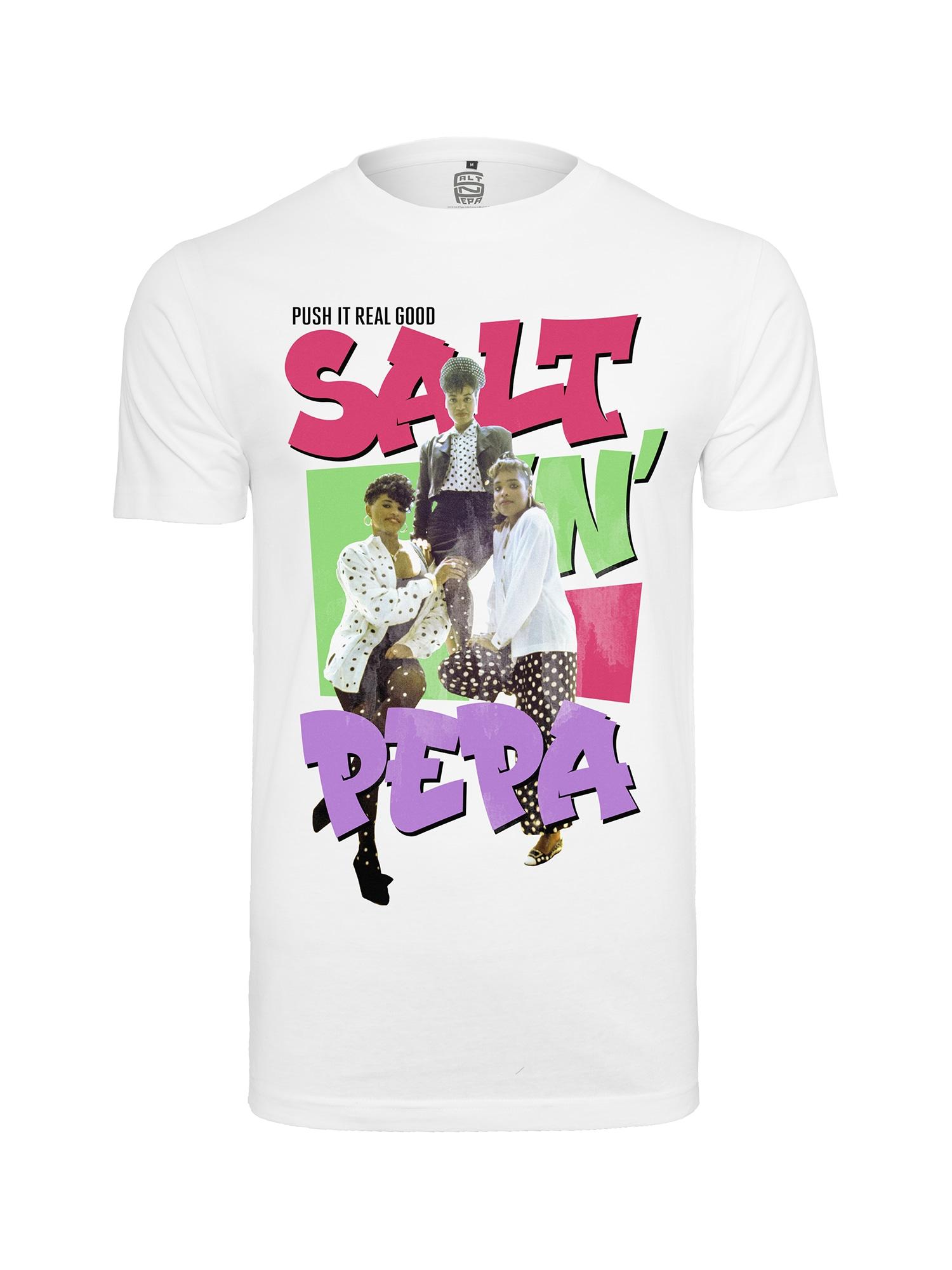 Tričko Ladies Salt N Pepa Tee světle zelená světle fialová pink bílá Merchcode