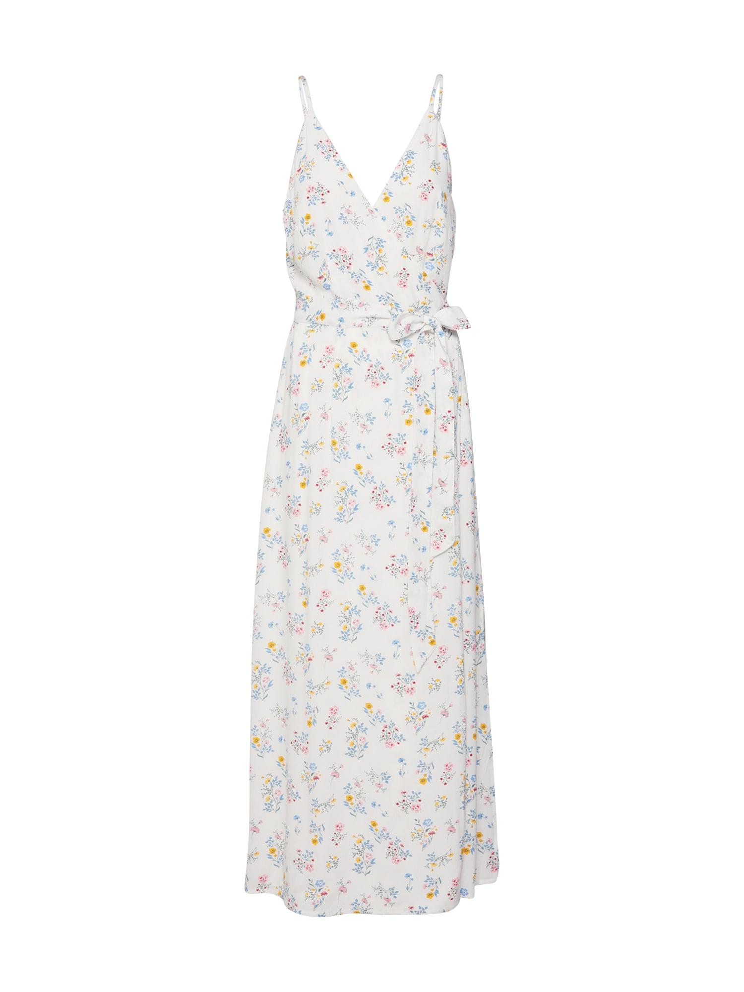 Letní šaty Roslyn modrá žlutá bílá EDITED