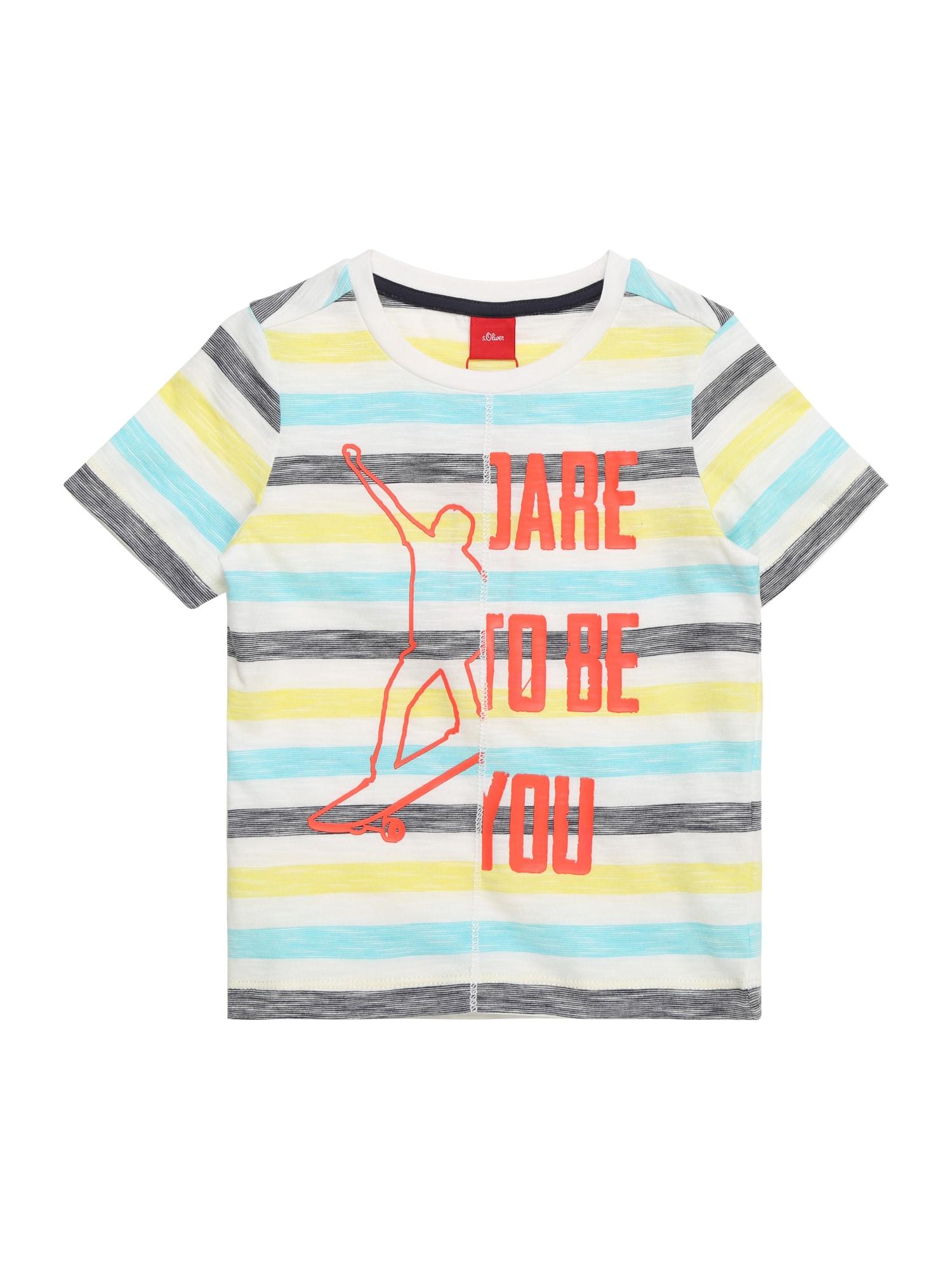 Tričko modrá žlutá bílá S.Oliver Junior