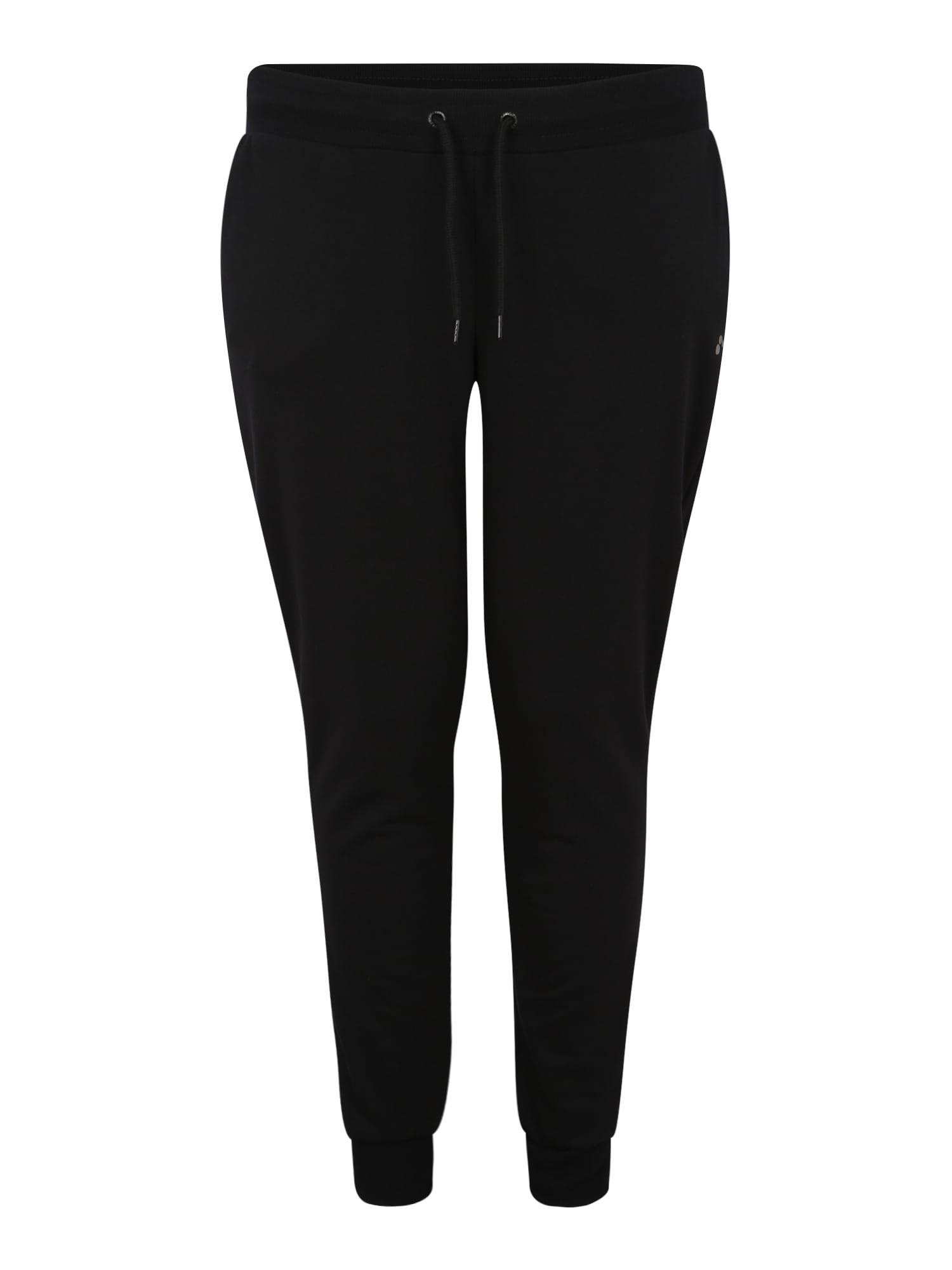Sportovní kalhoty onpELINA SWEAT PANTS CURVYOPUS černá Only Play Curvy