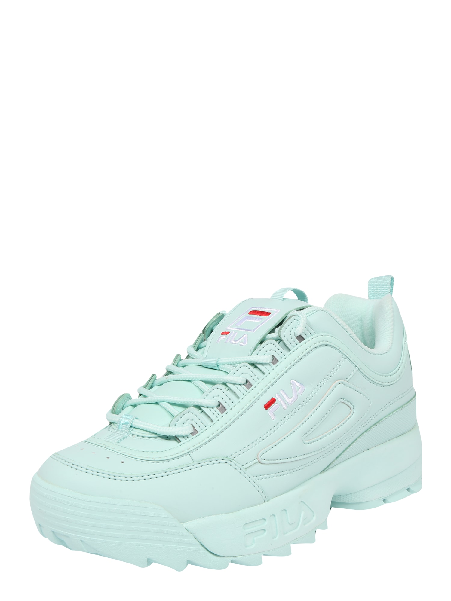FILA, Heren Sneakers laag 'Disruptor', mintgroen / rood / wit