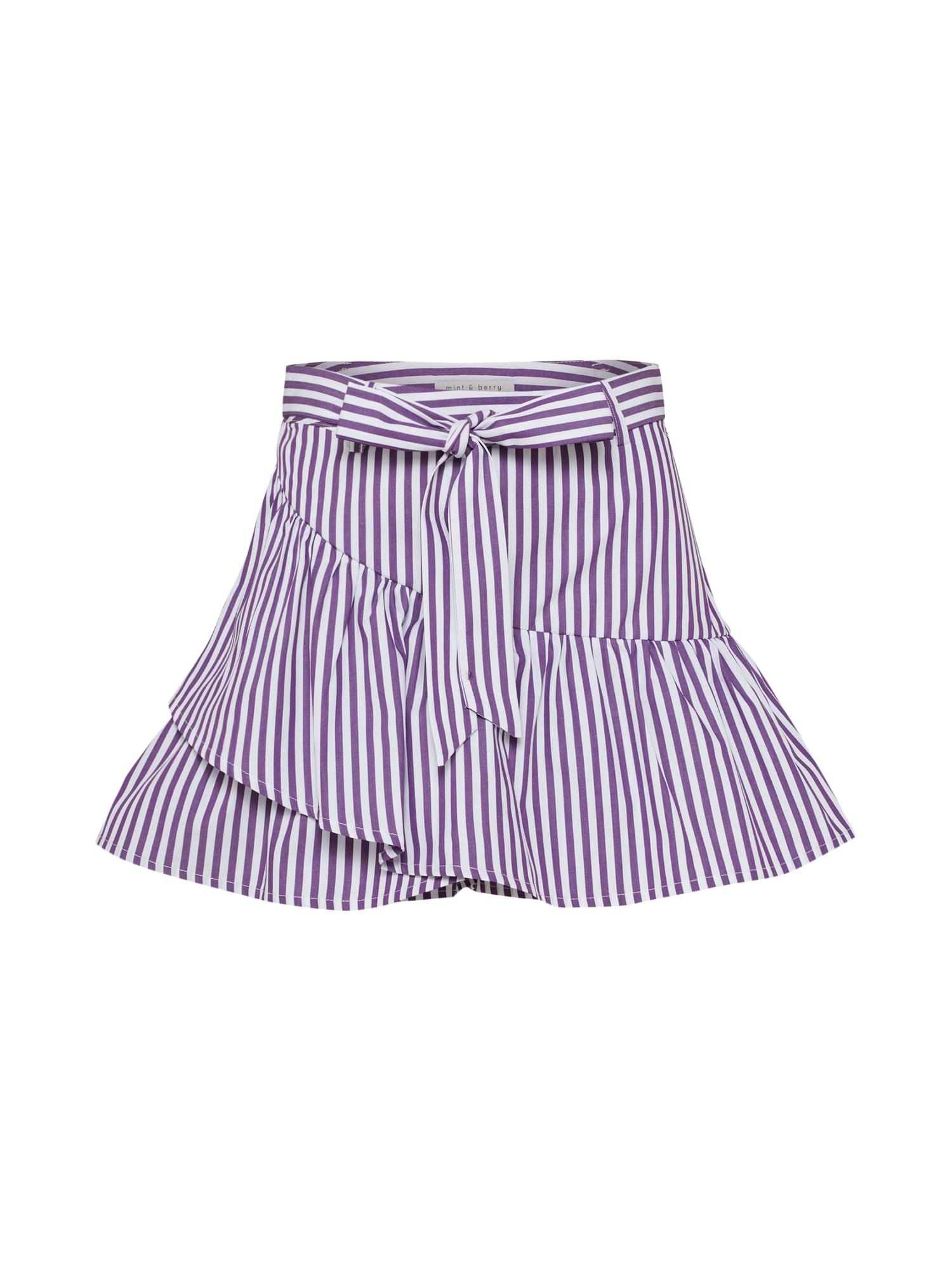 Kalhoty fialová bílá Mint&berry