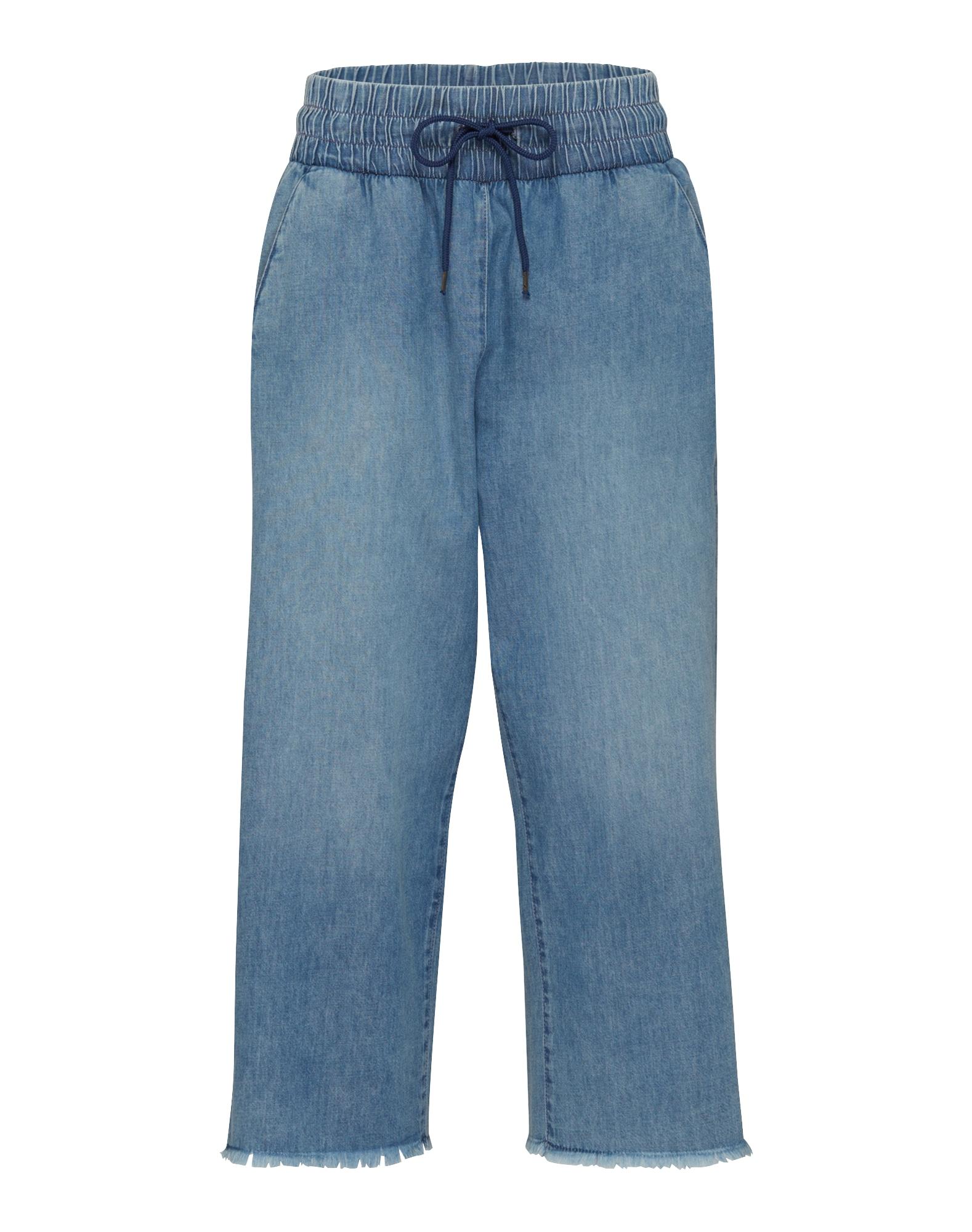 CHEAP MONDAY Dames Jeans Flow Crop blauw