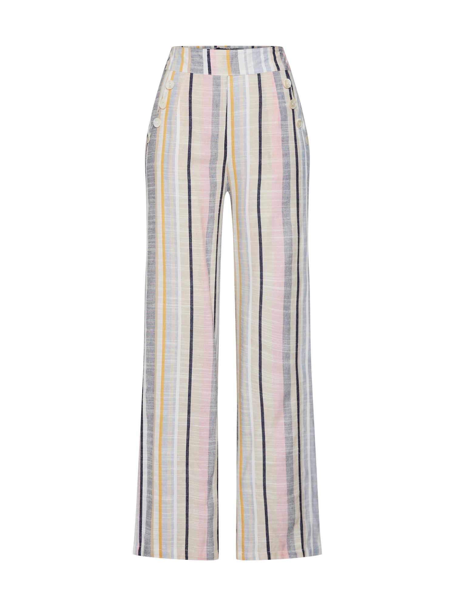 Kalhoty béžová šedá růžová Boohoo