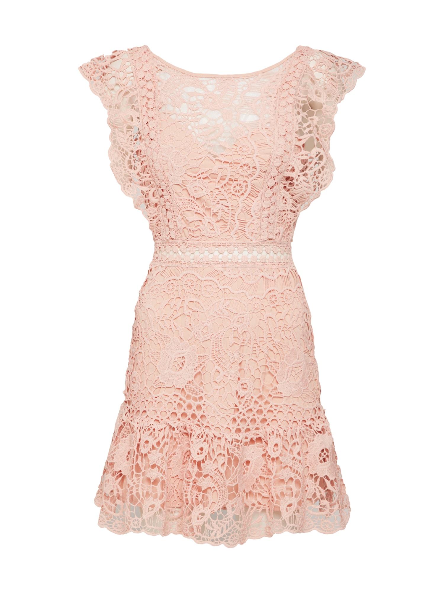Koktejlové šaty SWEET CHARLOTTE tělová Love Triangle