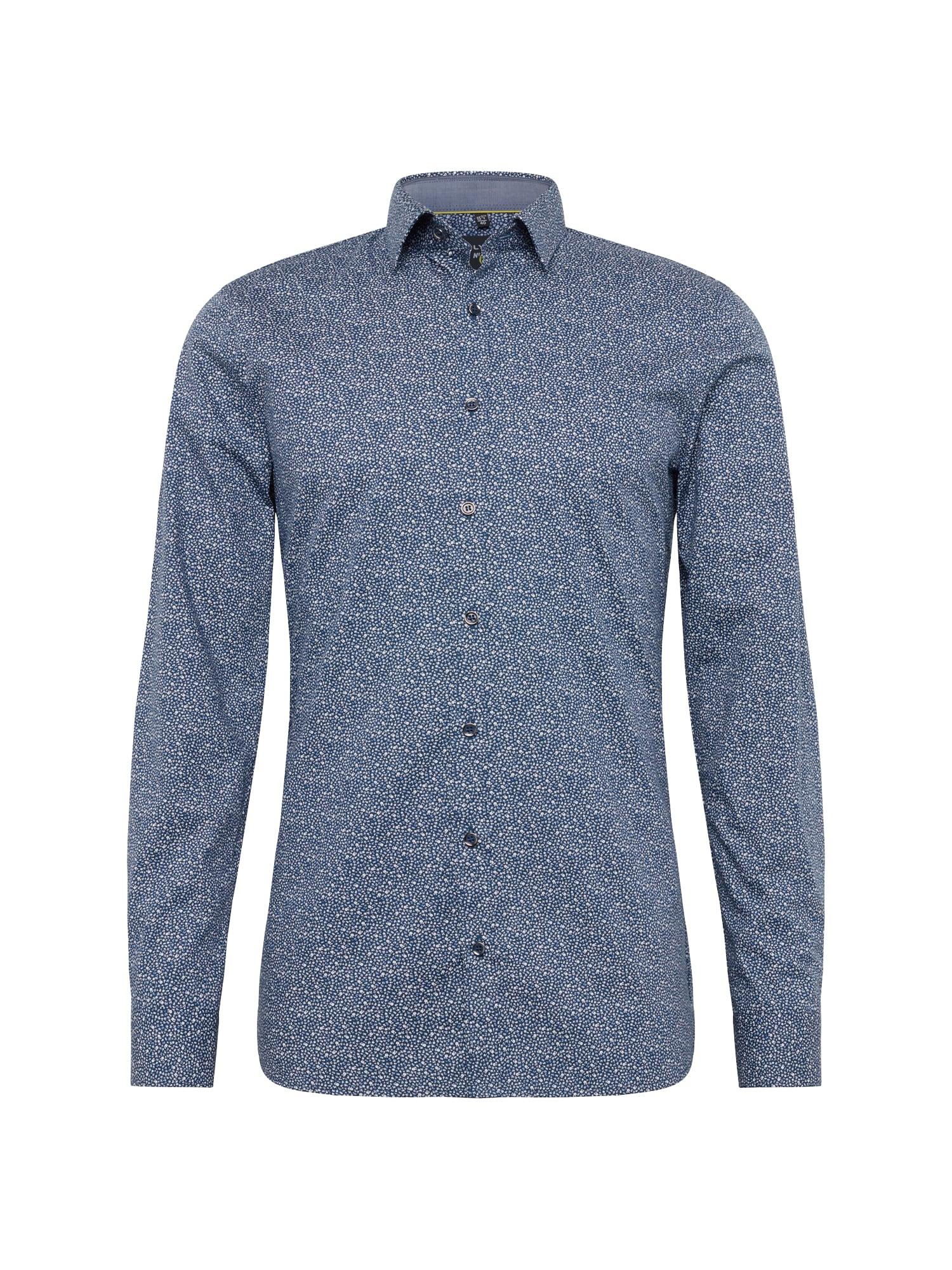 Košile No. 6 Print Floral tmavě modrá bílá OLYMP