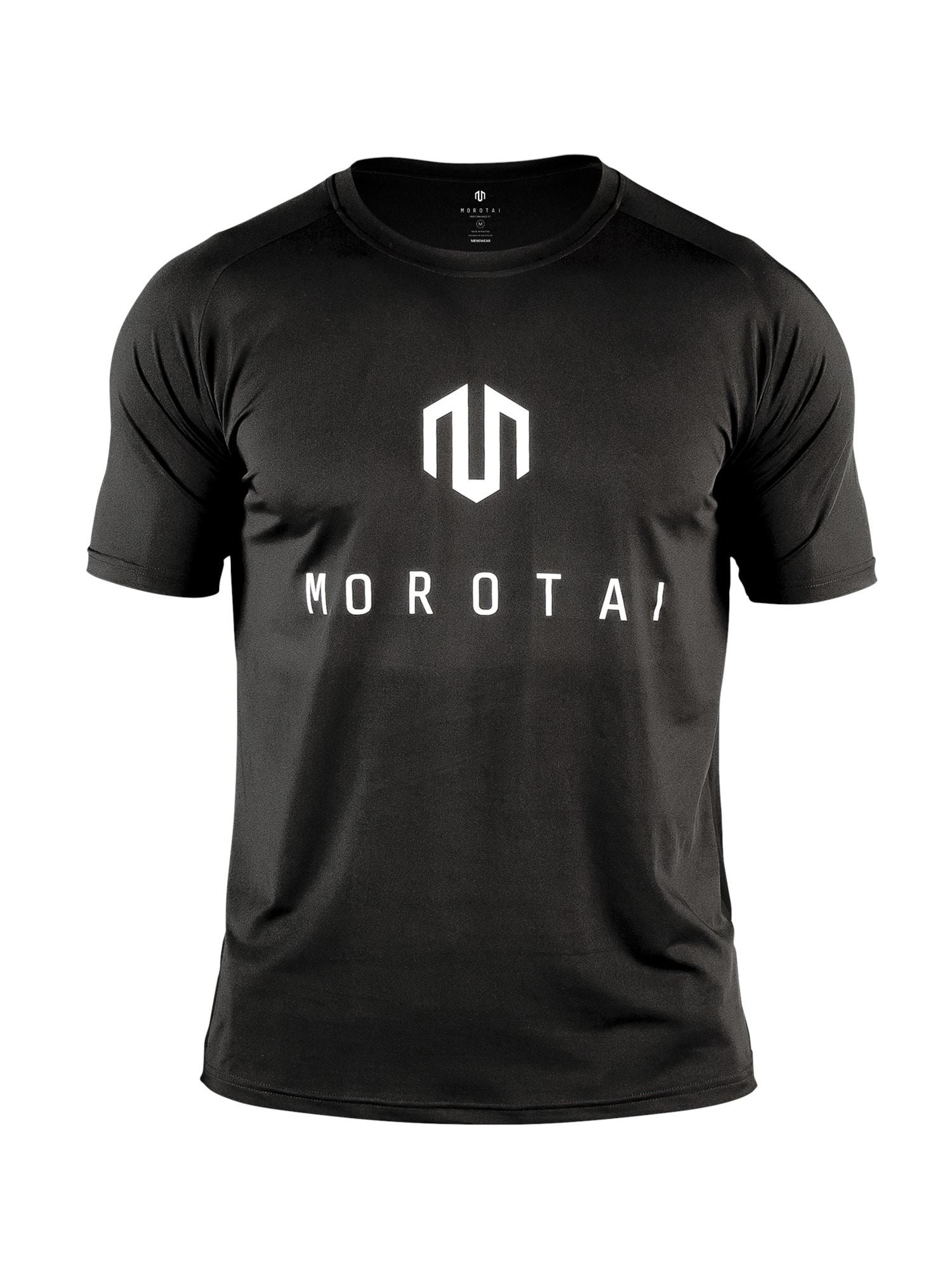 MOROTAI Funkční tričko 'Performance Basic'  černá / bílá