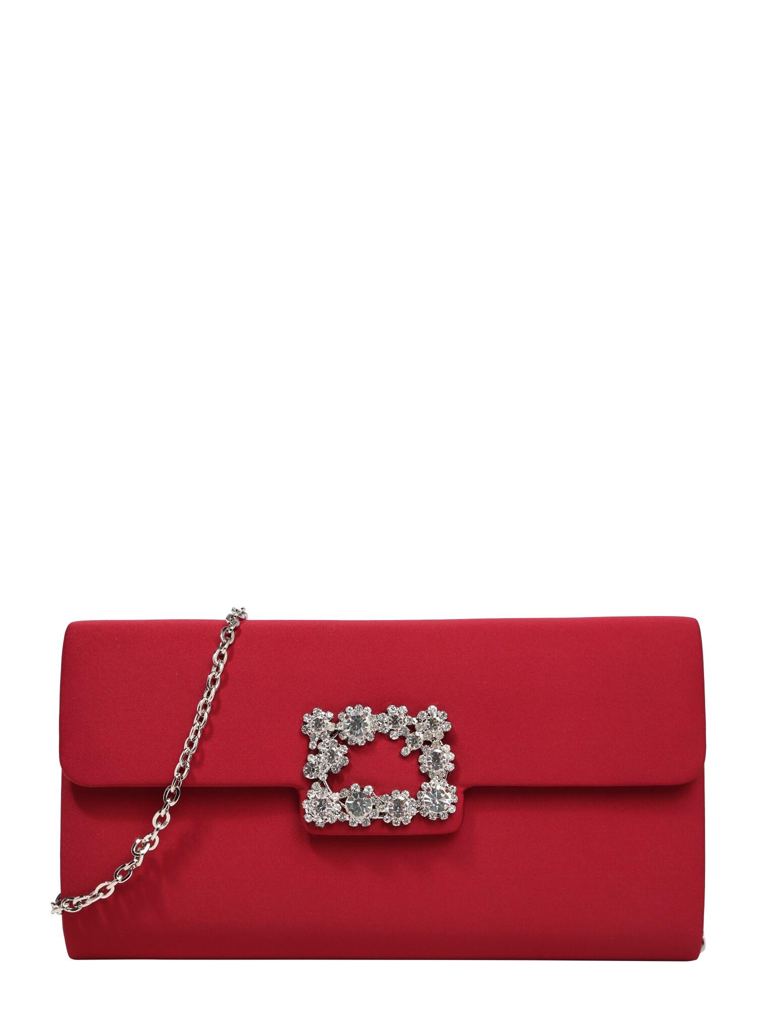 Taška přes rameno DIAMOND BUCKLE vínově červená Mascara