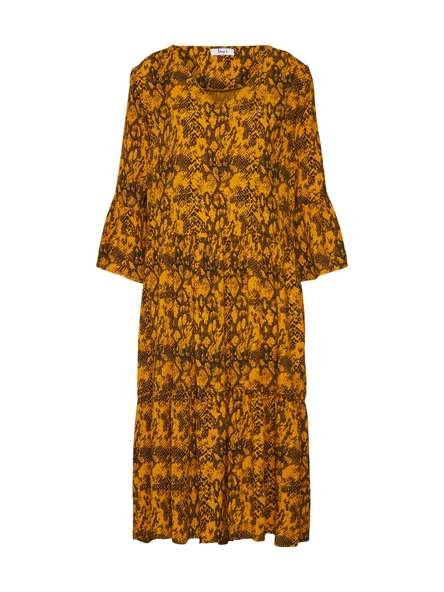 Šaty LG008350 zlatě žlutá antracitová Liebesglück