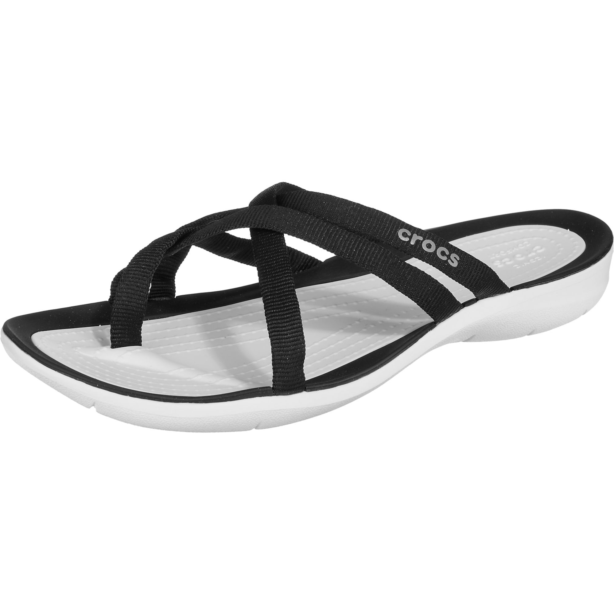 Zehentrenner 'Swiftwater' | Schuhe > Sandalen & Zehentrenner > Zehentrenner | Schwarz - Weiß | Crocs