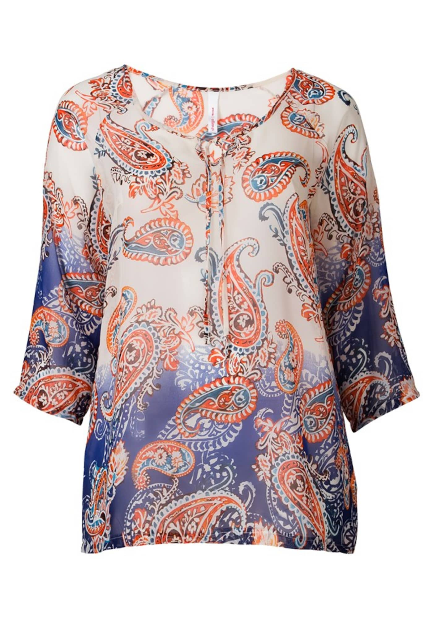 Trend Tunika mit 3/4 Ärmel   Bekleidung > Tuniken   Blau - Weiß   Sheego Trend