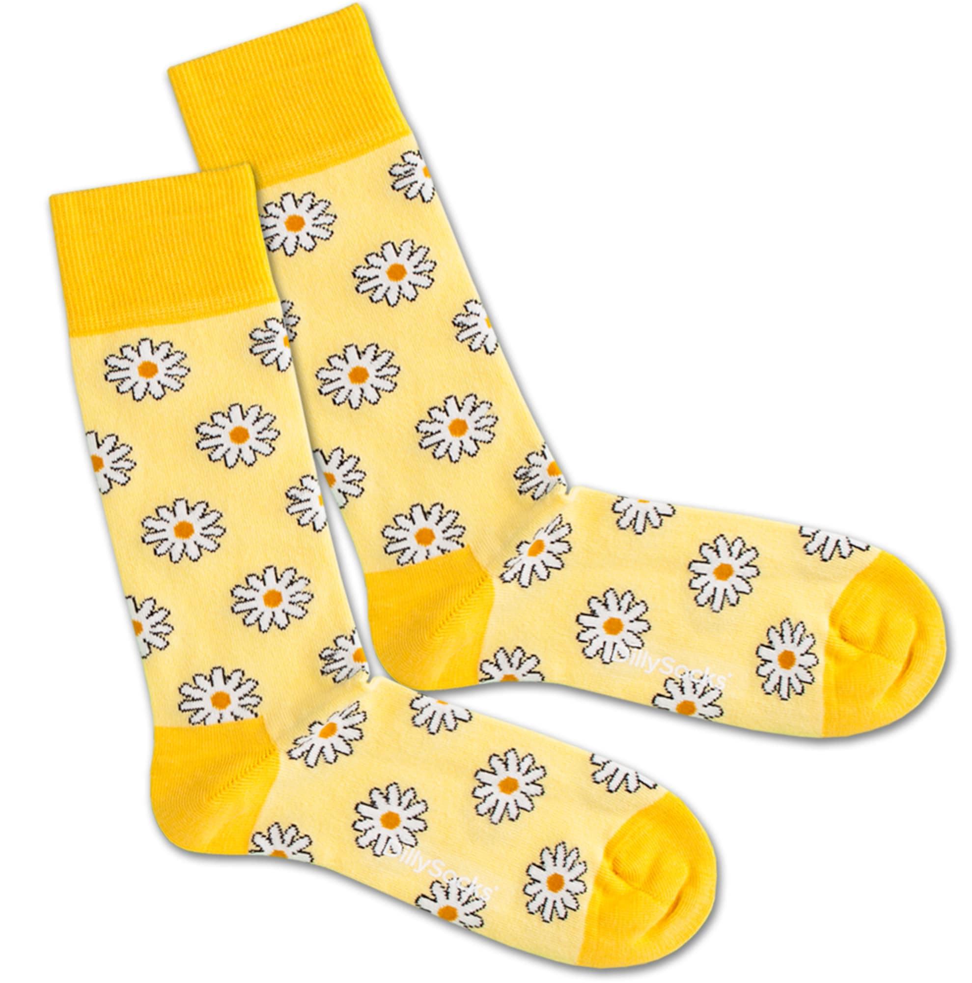 Ponožky Sunny Flower žlutá bílá DillySocks