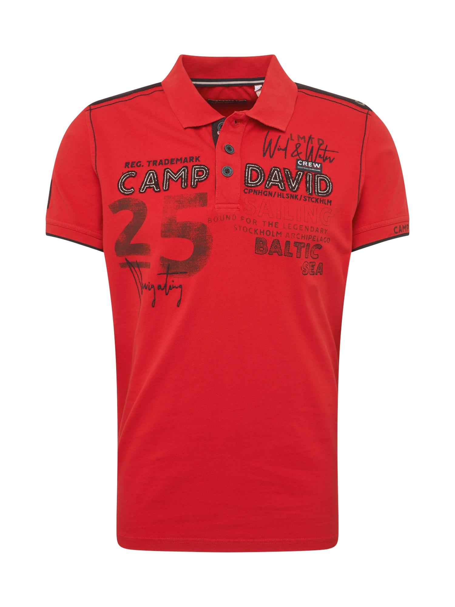 Tričko červená černá bílá CAMP DAVID