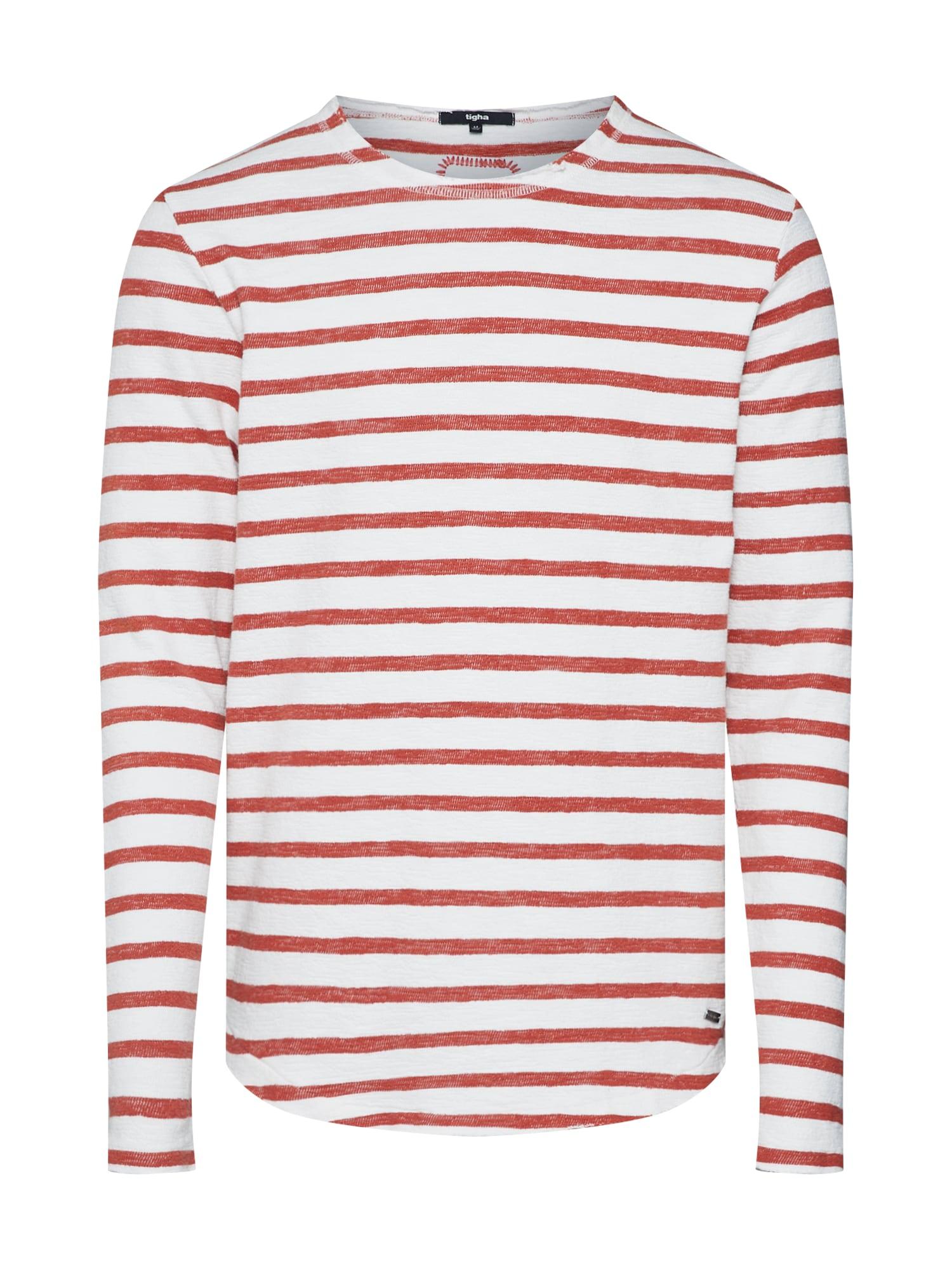 Tričko Alister rezavě červená bílá Tigha