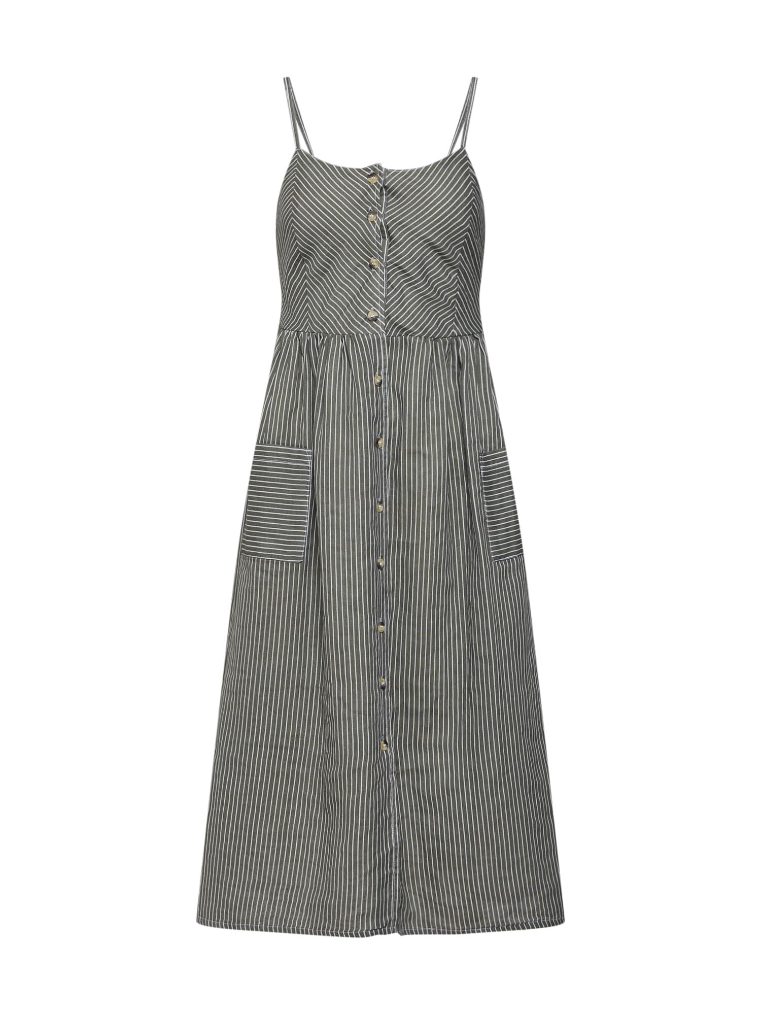 Letní šaty zelená bílá NA-KD