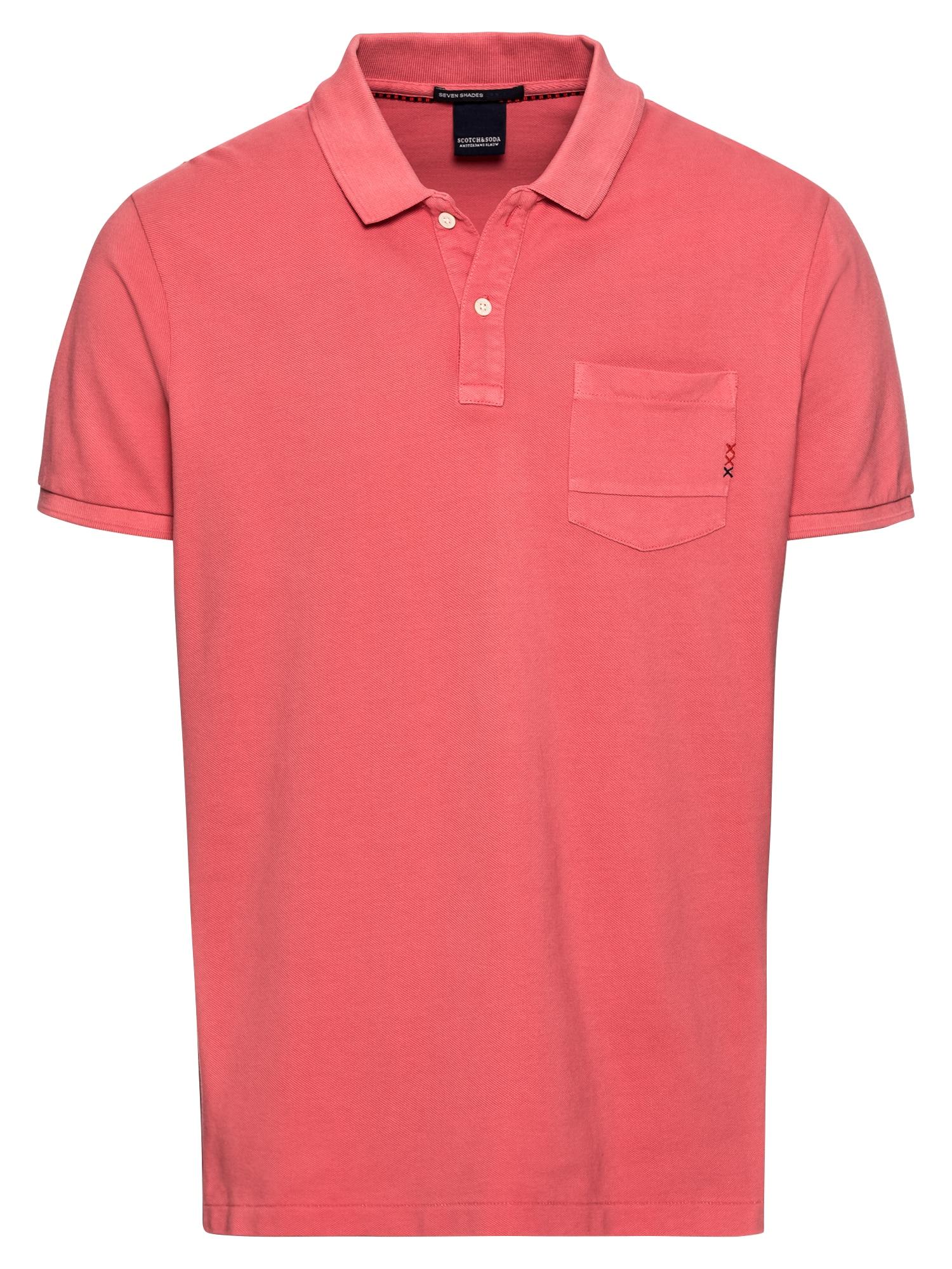 SCOTCH  and  SODA Heren Shirt Ams Blauw garment dyed polo with XXX pocket abriko