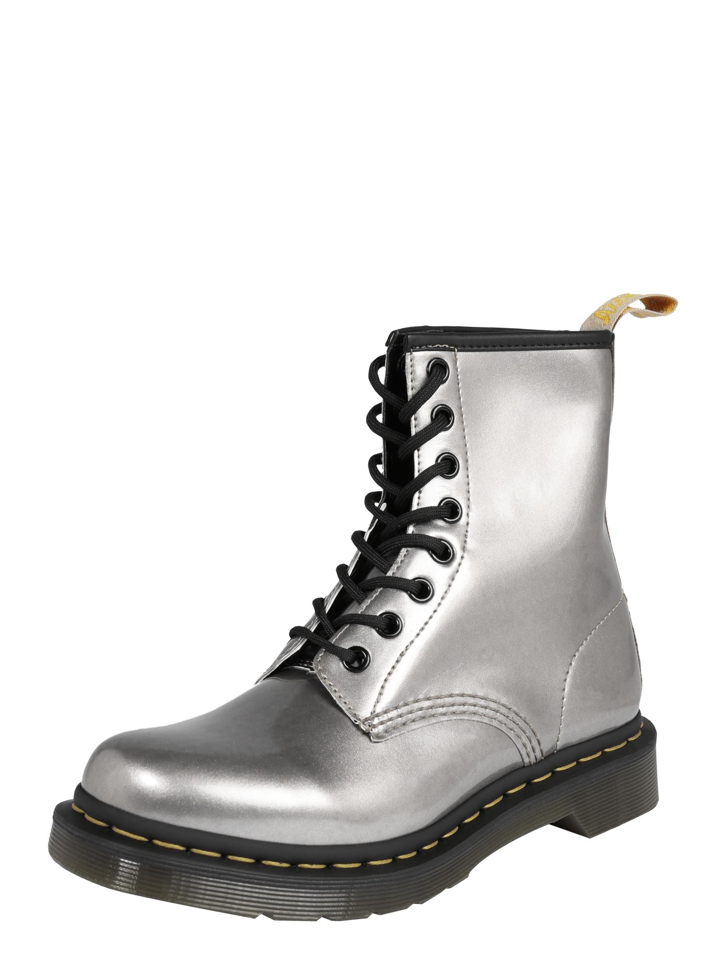 Šněrovací boty 8 Eye Boot 1460 Vegan stříbrná Dr. Martens