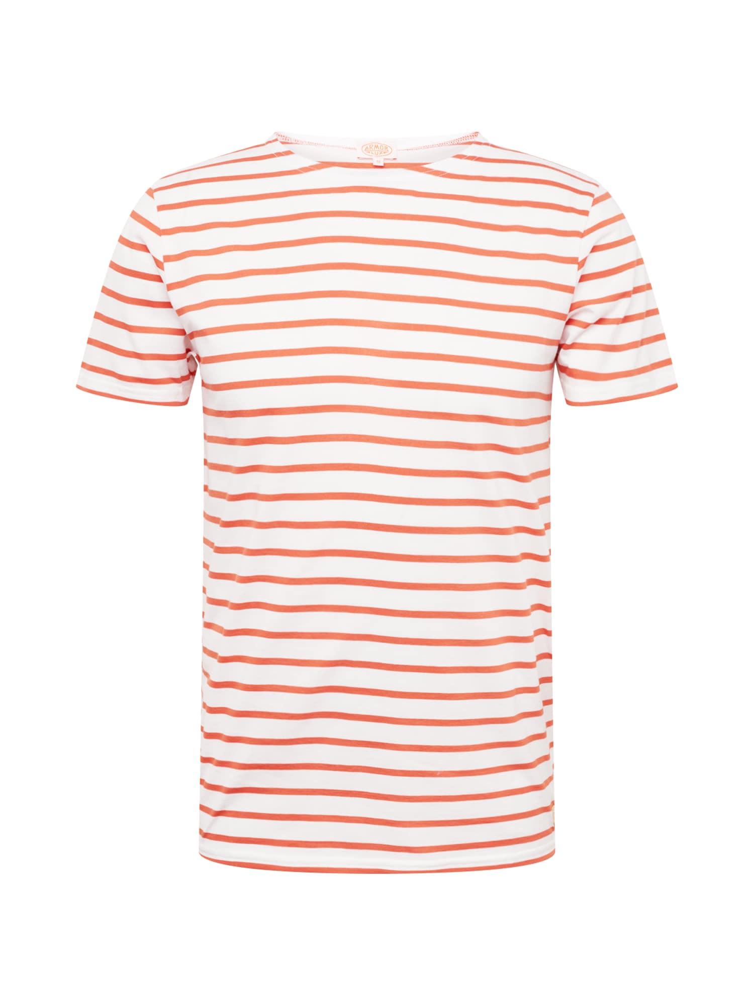 Tričko Hoëdic oranžová přírodní bílá Armor Lux