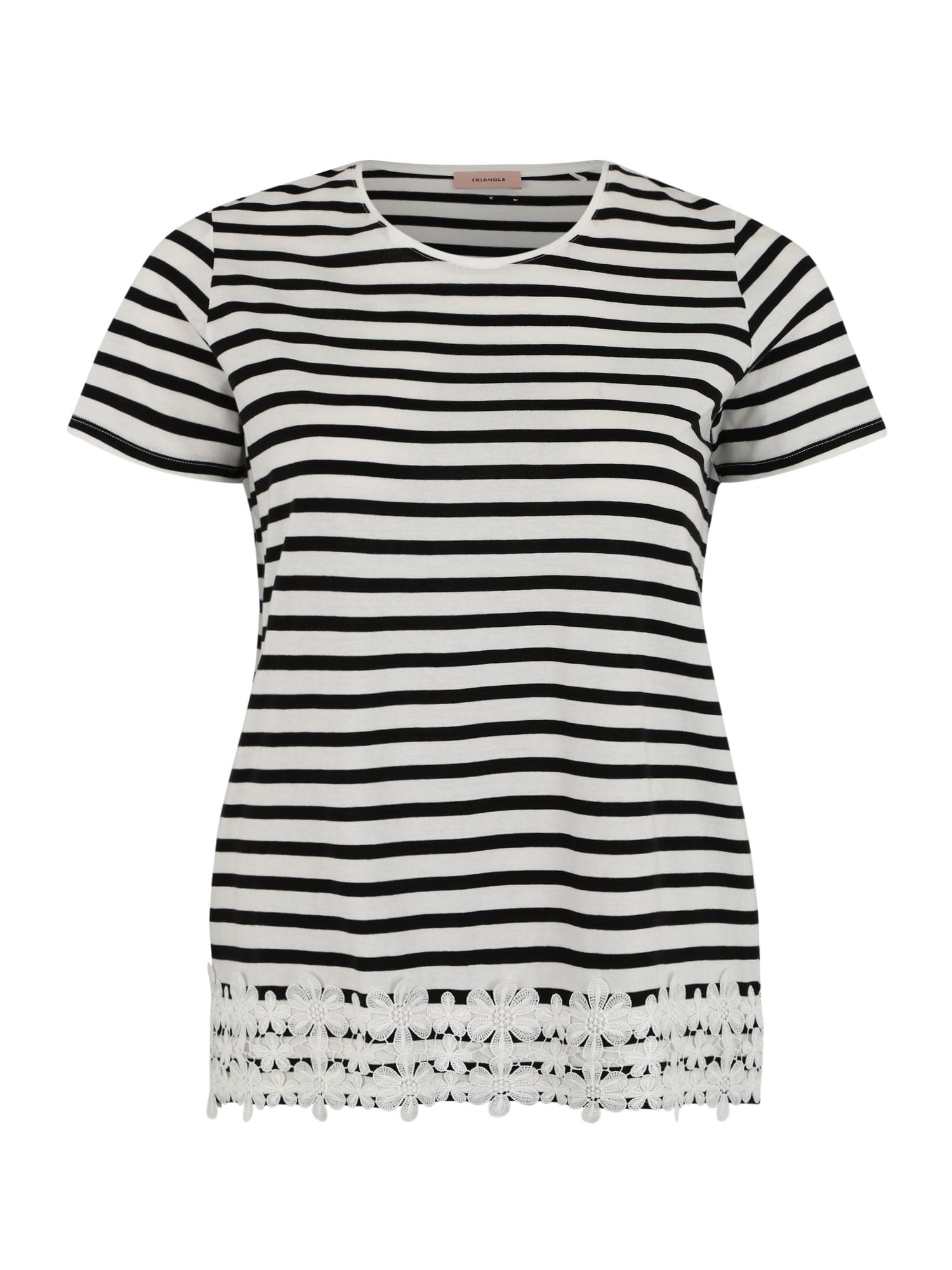 Tričko šedá černá TRIANGLE