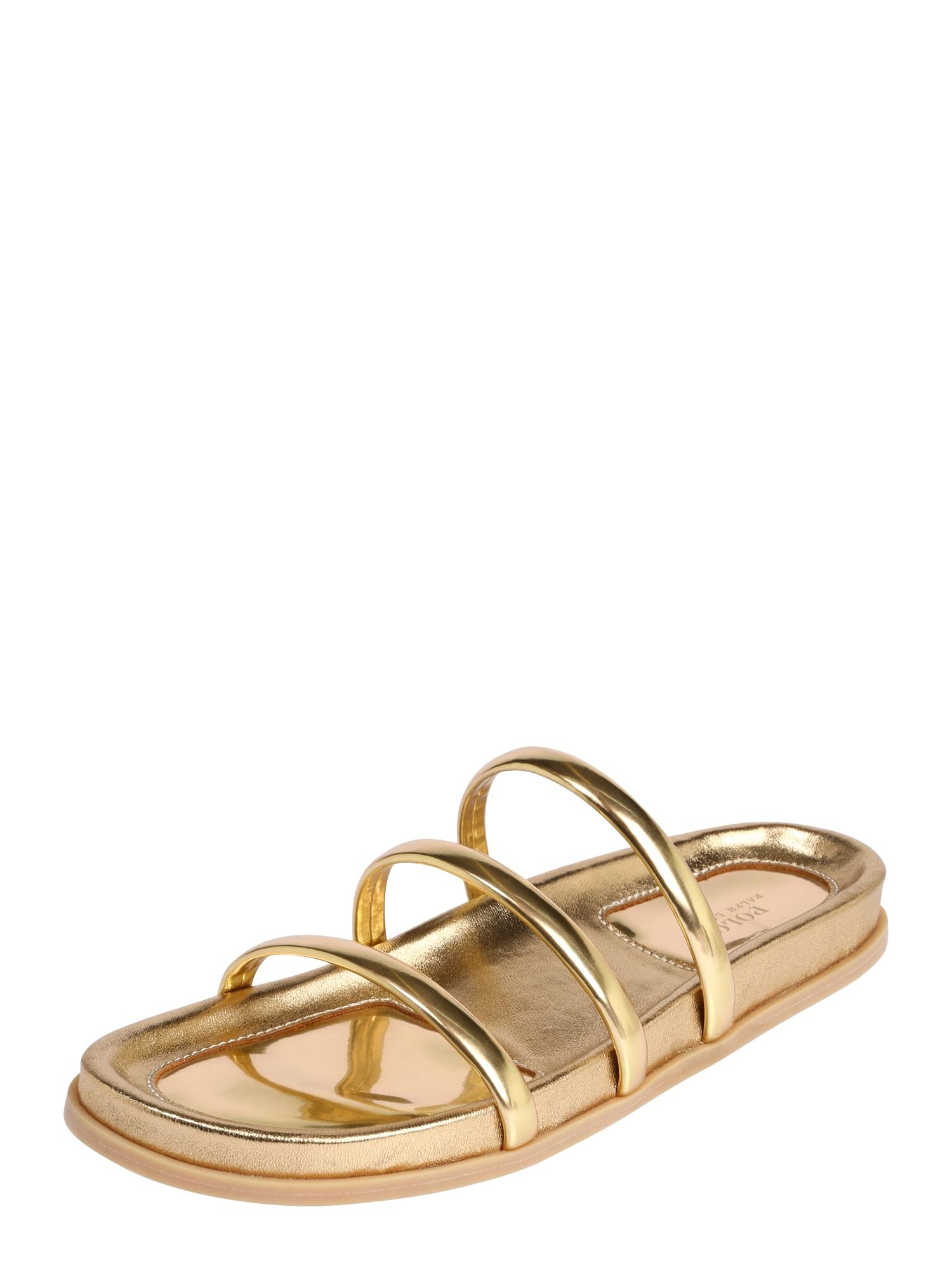 POLO RALPH LAUREN Pantofle  zlatá