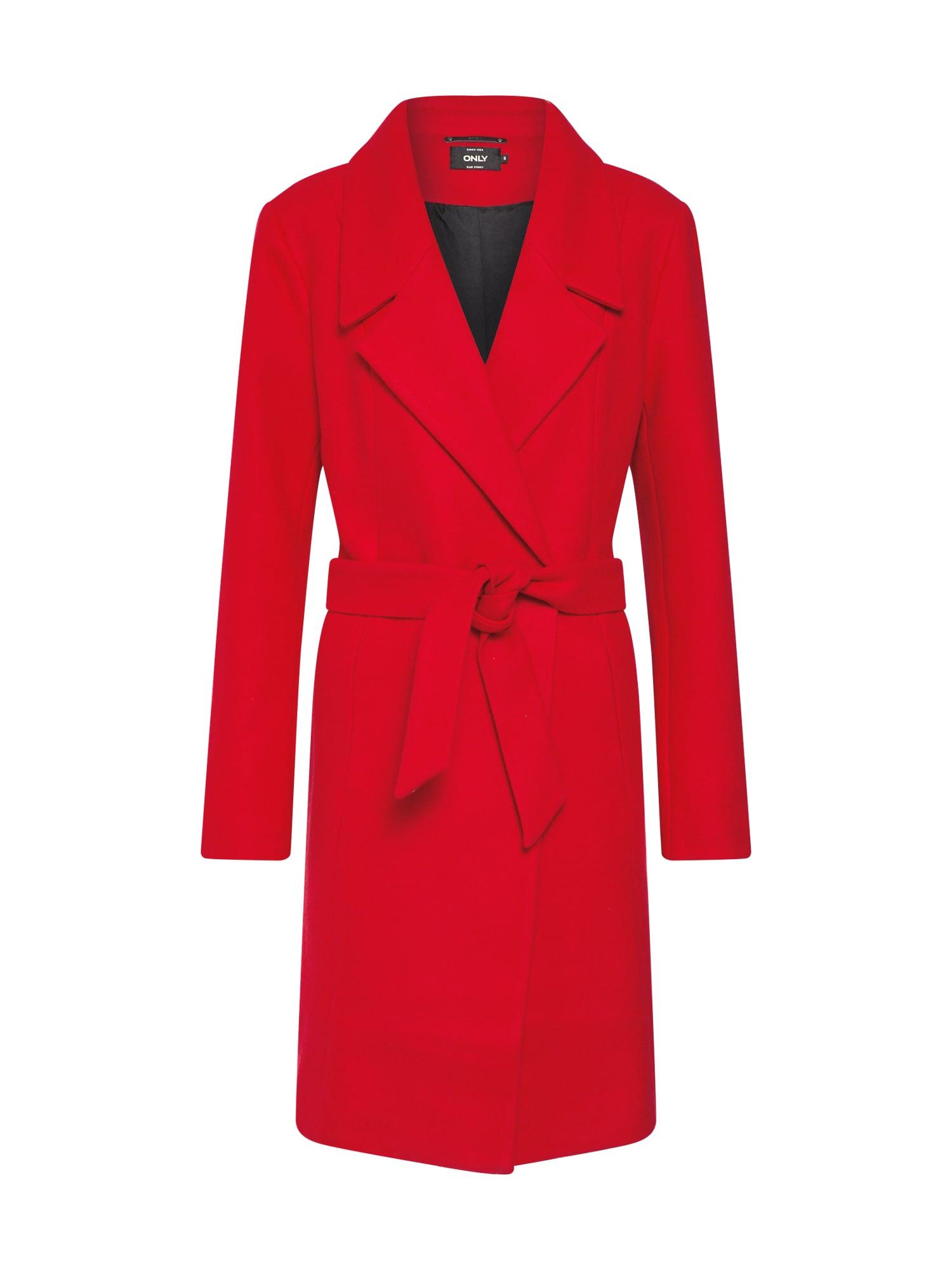 Zimní kabát REGINA červená ONLY