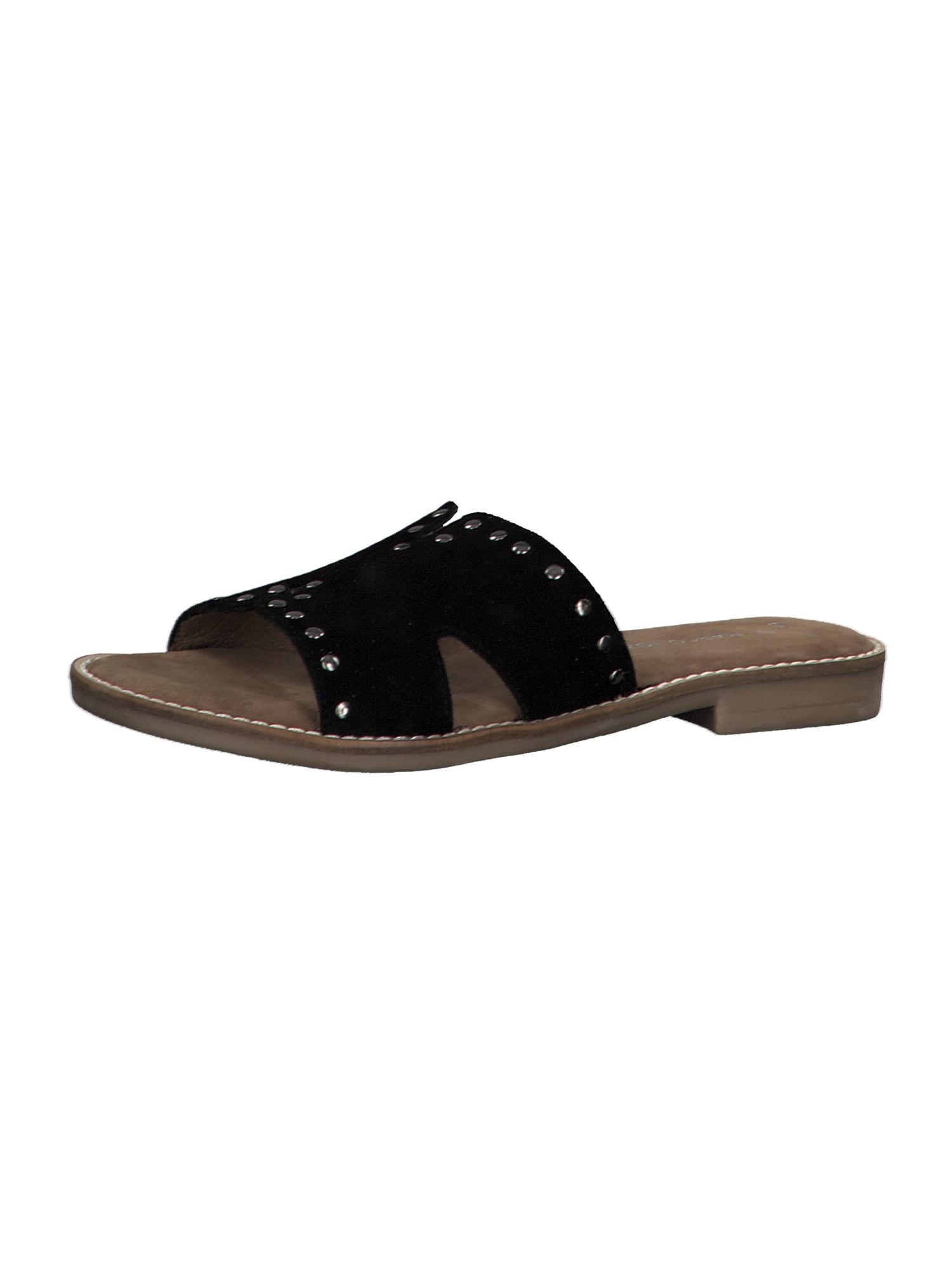 MARCO TOZZI Pantofle  černá