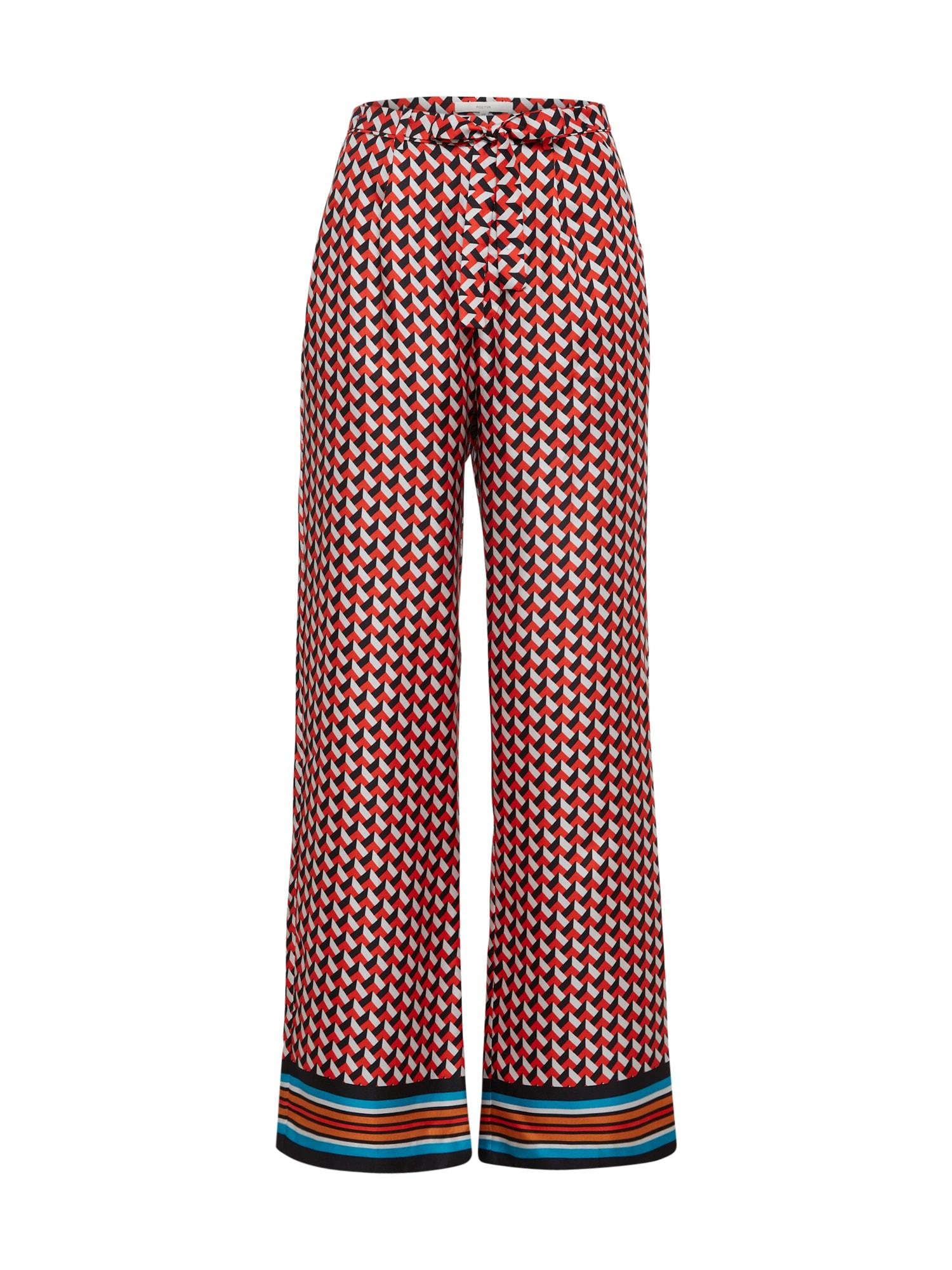 Kalhoty se sklady v pase POSIRIS červená bílá POSTYR