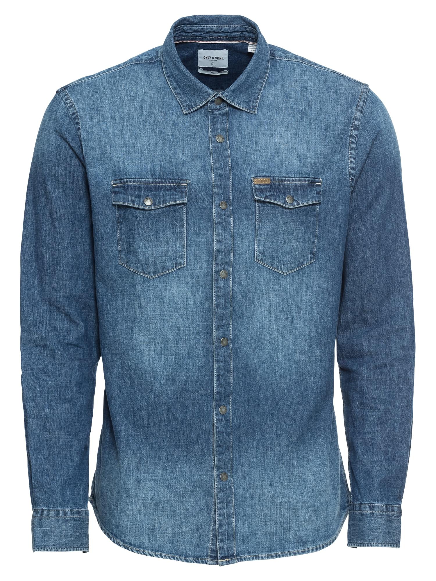 Košile modrá džínovina Only & Sons