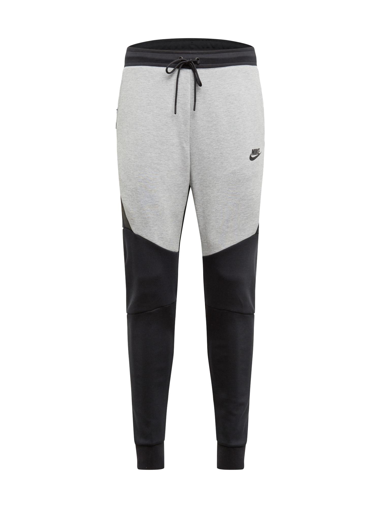 Kalhoty světle šedá černá Nike Sportswear