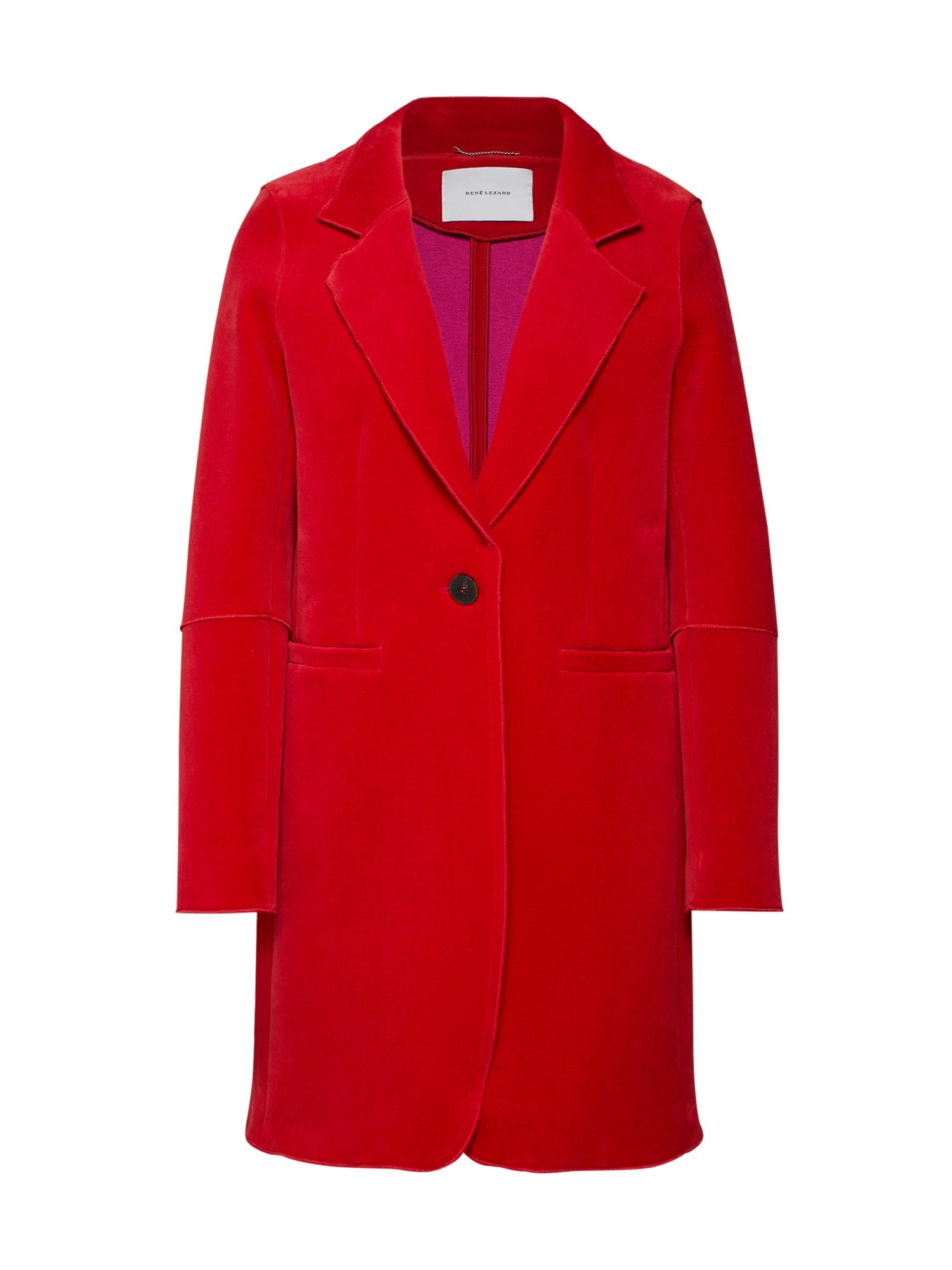 Přechodný kabát M003S červená RENÉ LEZARD