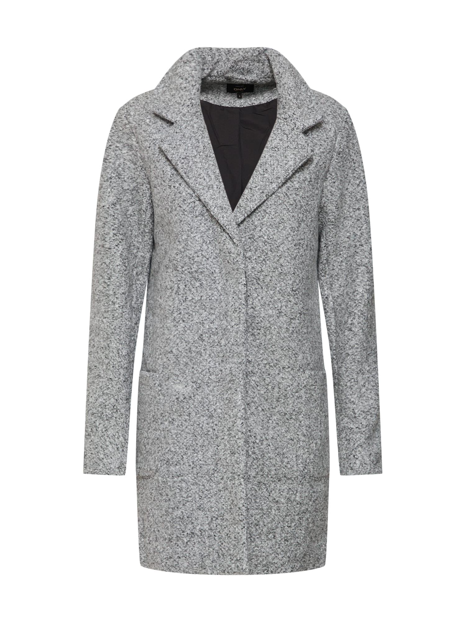 Zimní kabát světle šedá ONLY