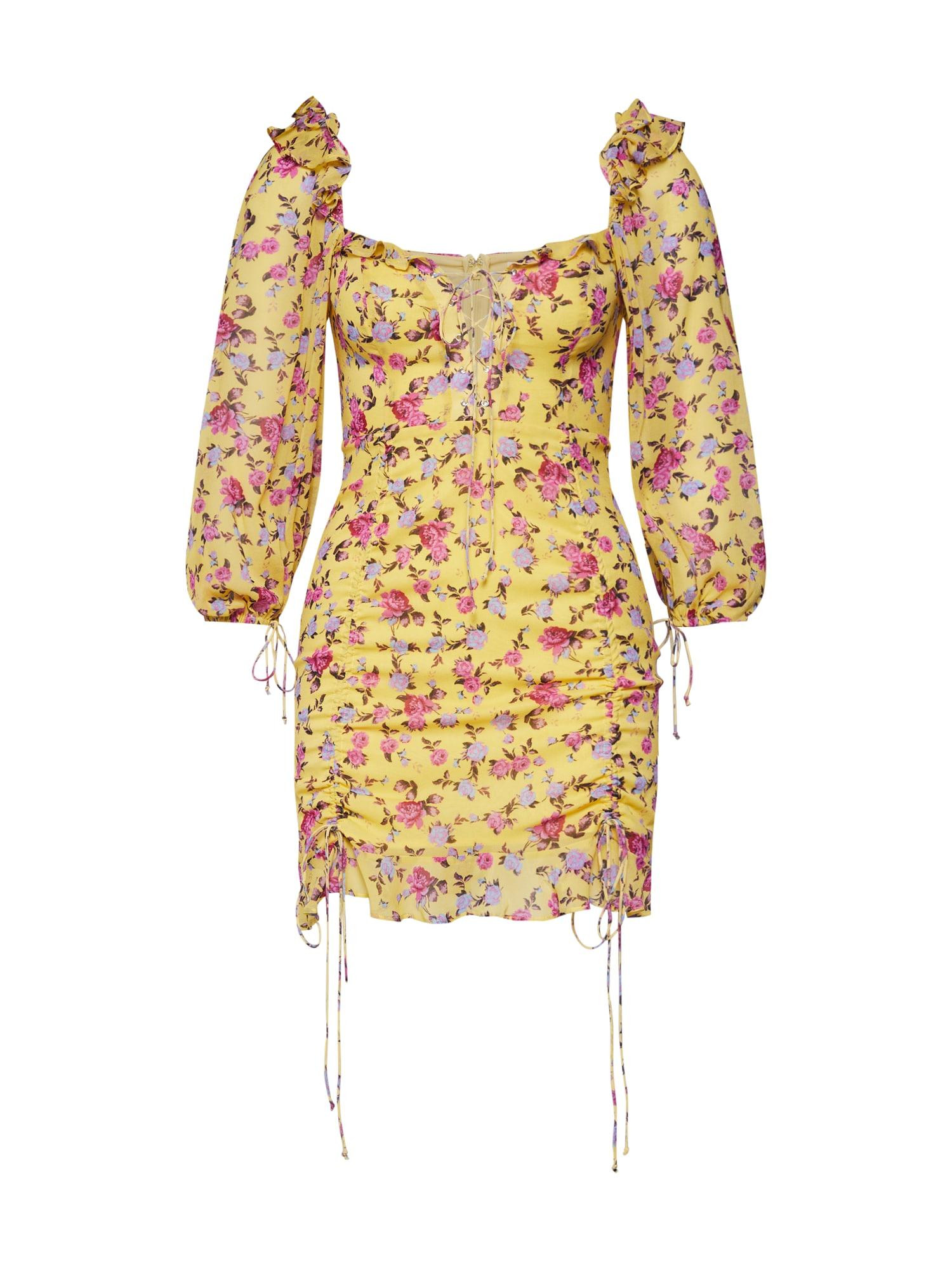 Letní šaty žlutá mix barev For Love & Lemons
