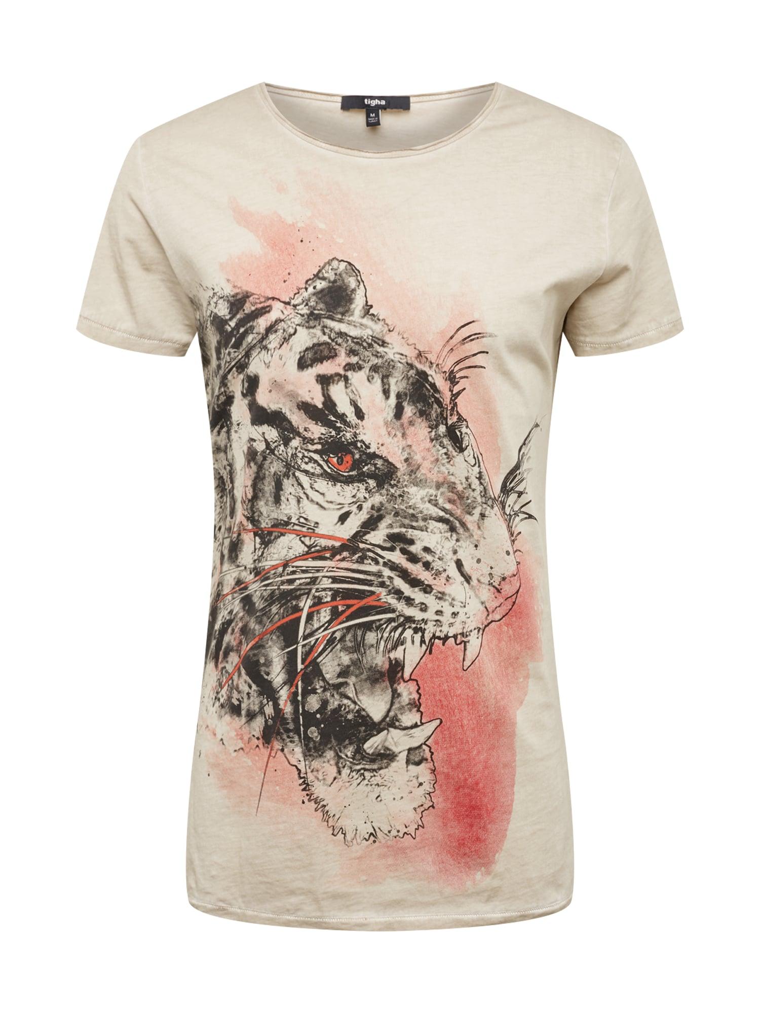 Tričko Wild Tiger MSN písková světle červená černá Tigha