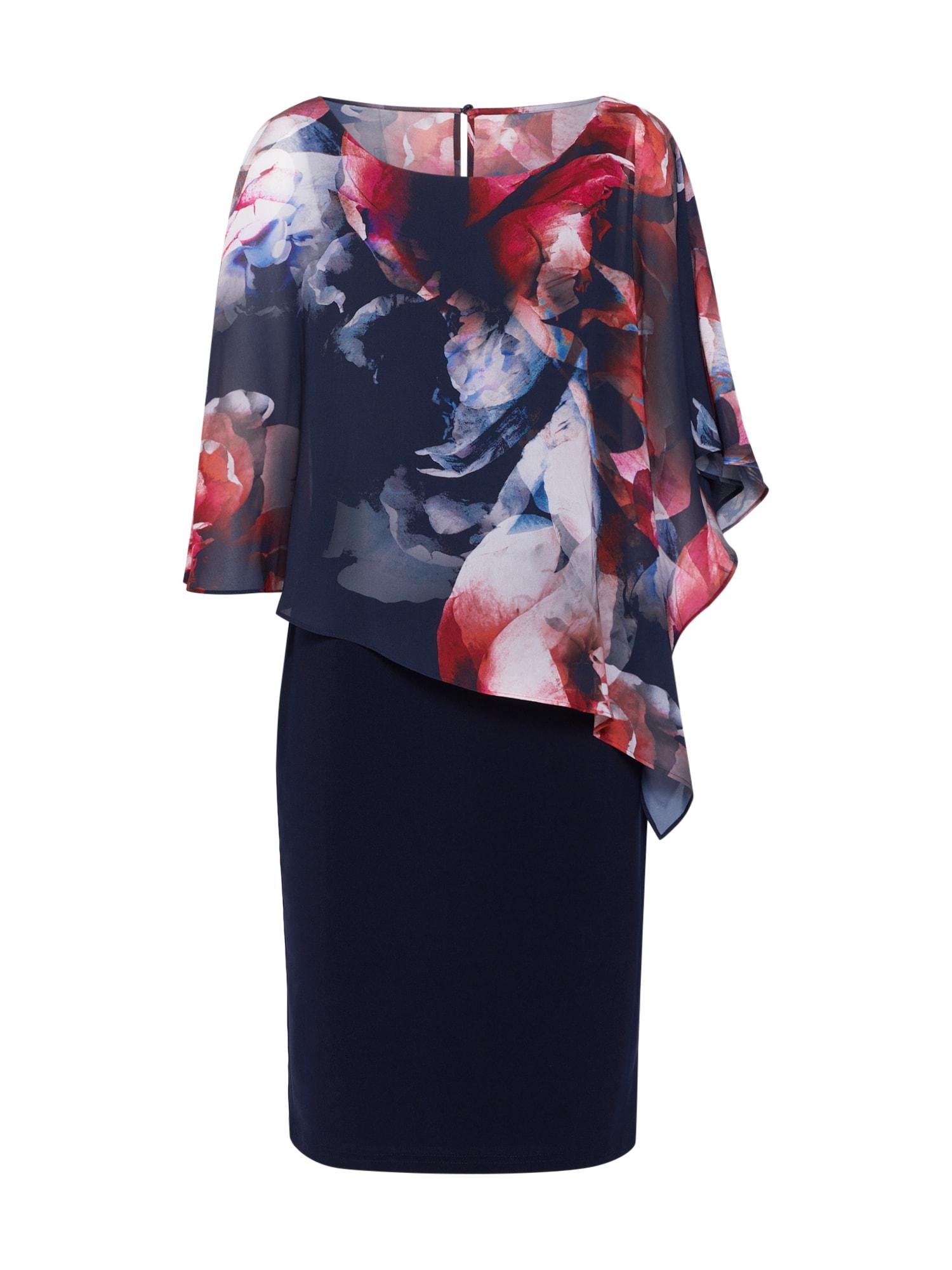 Pouzdrové šaty tmavě modrá červená Vera Mont