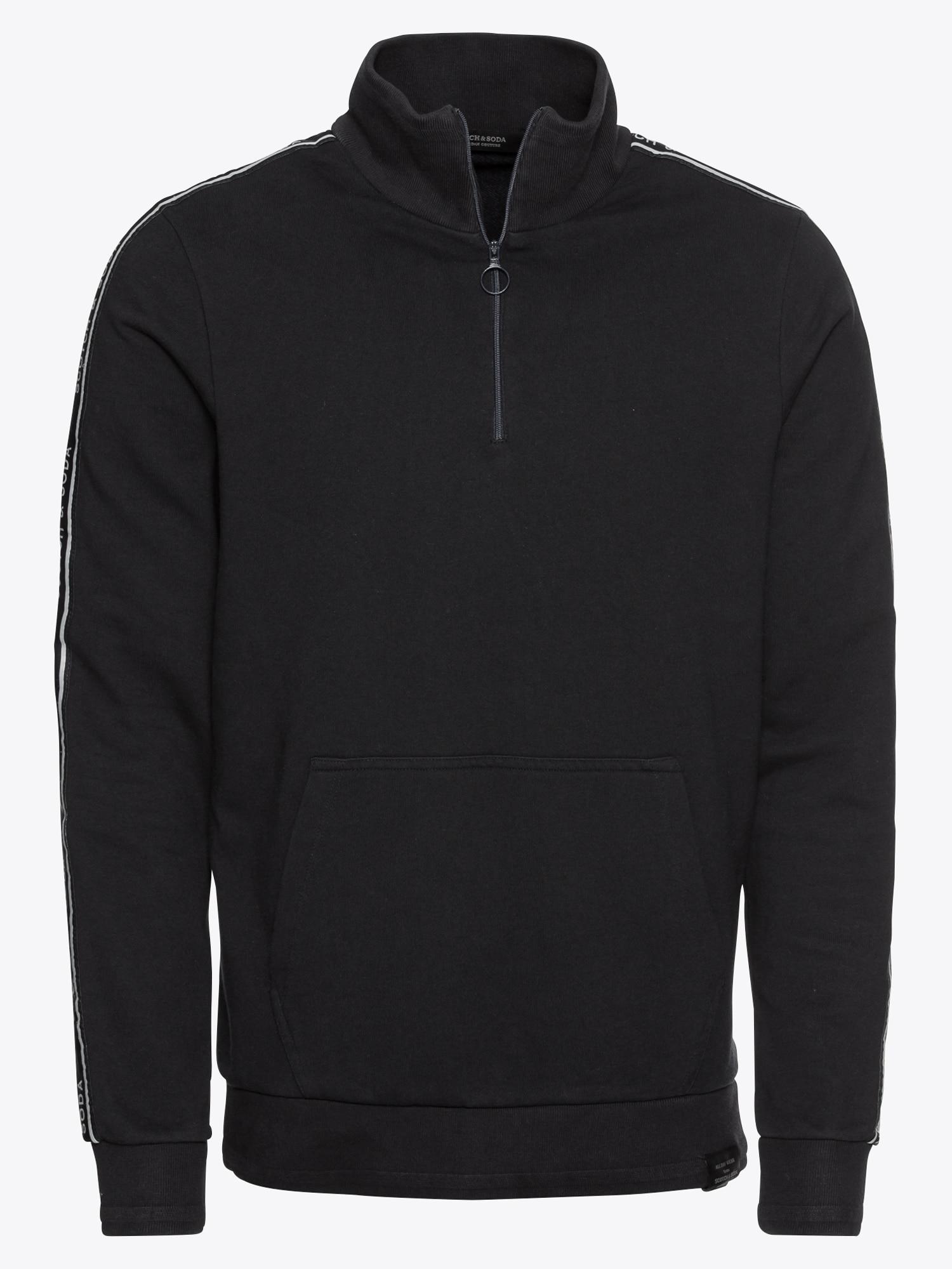 Sweatshirt 'Half-zip track top in felpa quality with branded tapes'