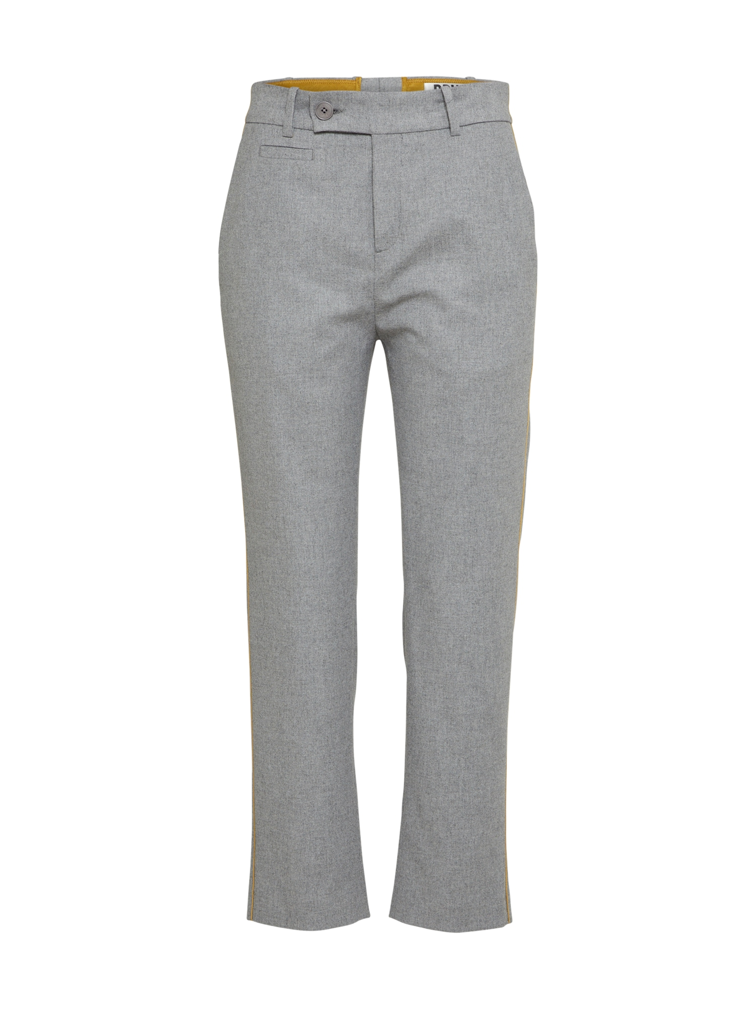 Kalhoty se sklady v pase LOBBY světle šedá DRYKORN