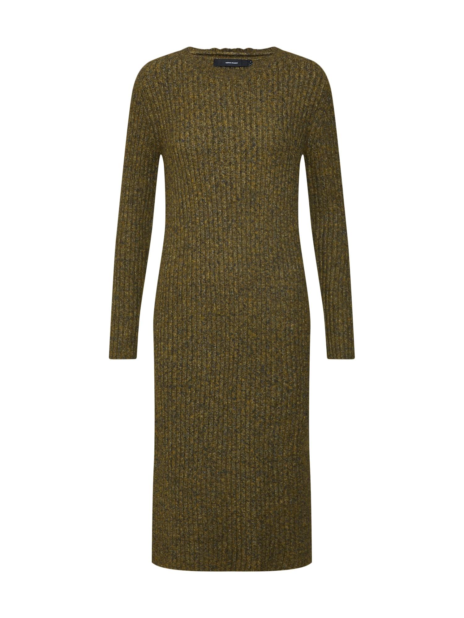 Úpletové šaty zelená VERO MODA