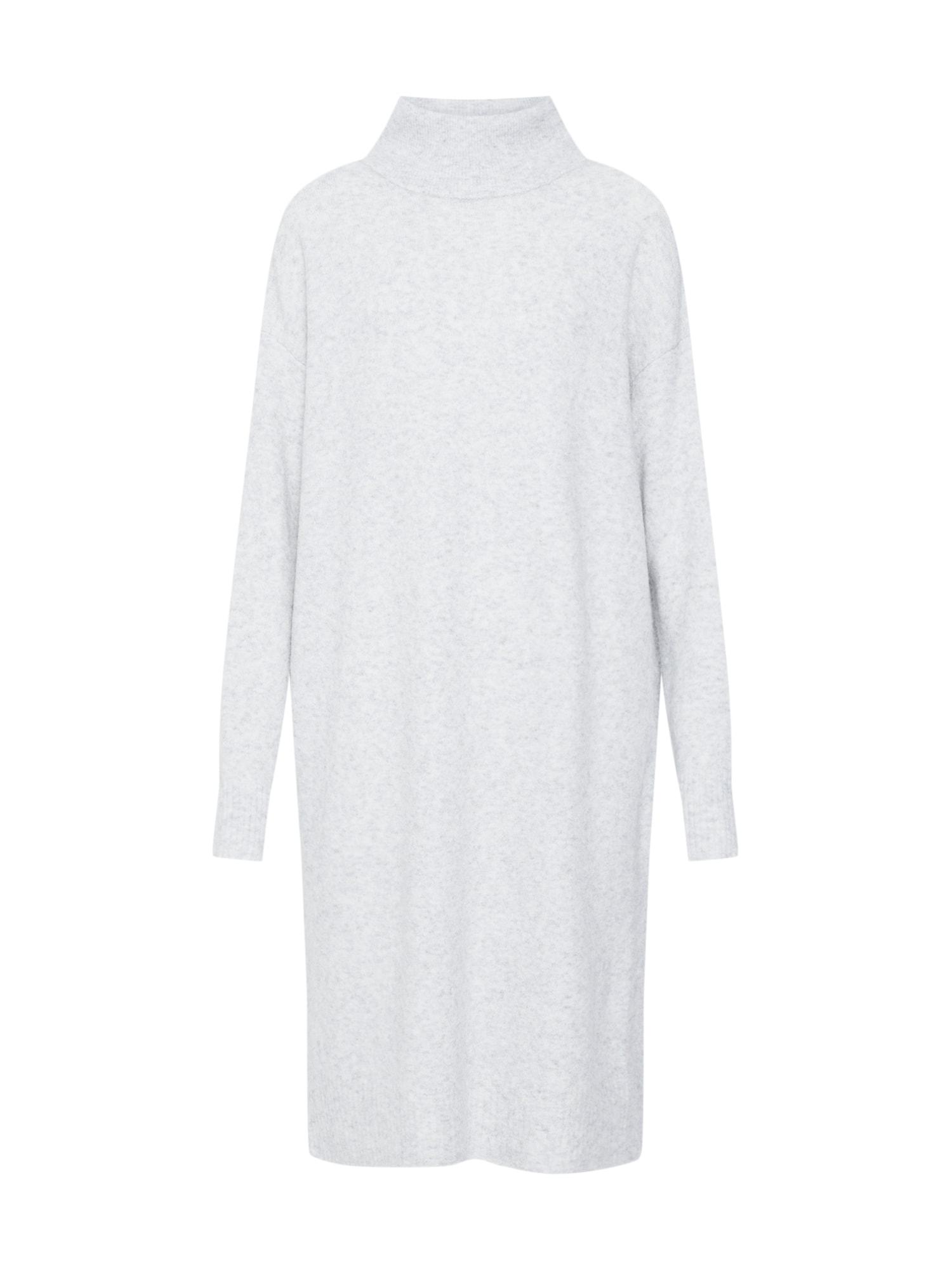 Úpletové šaty světle šedá AMERICAN VINTAGE