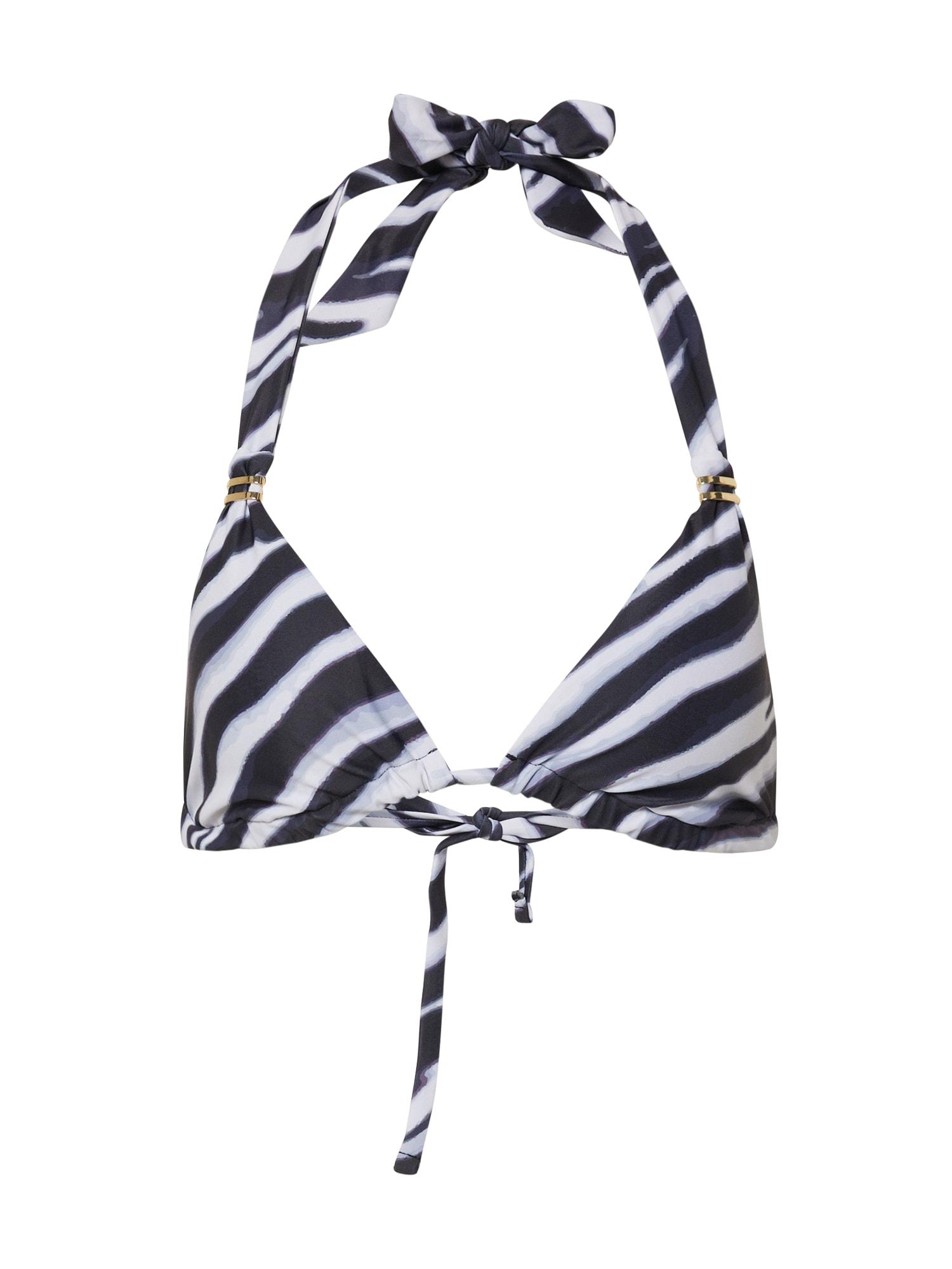 Hunkemöller Horní díl plavek 'Zebra Triangle'  černá