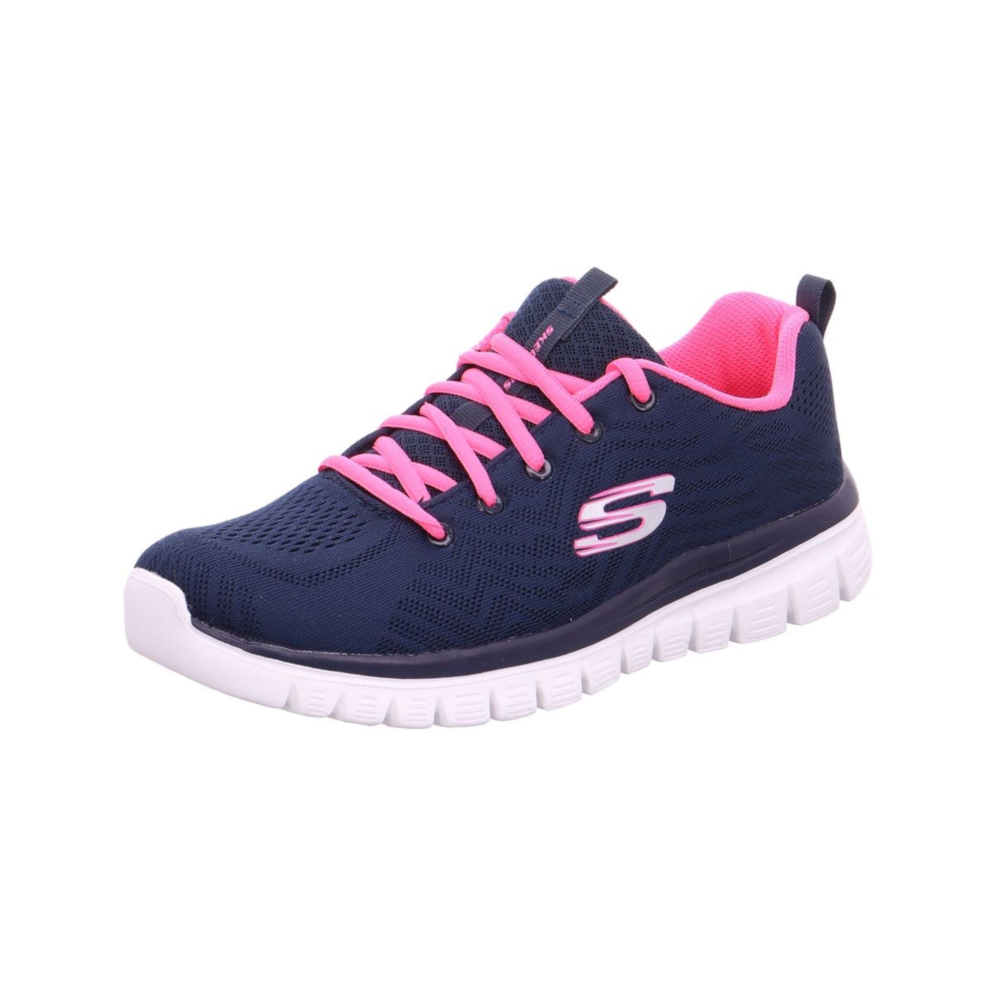 SKECHERS Šnurovacie topánky 'Graceful'  námornícka modrá / tmavoružová