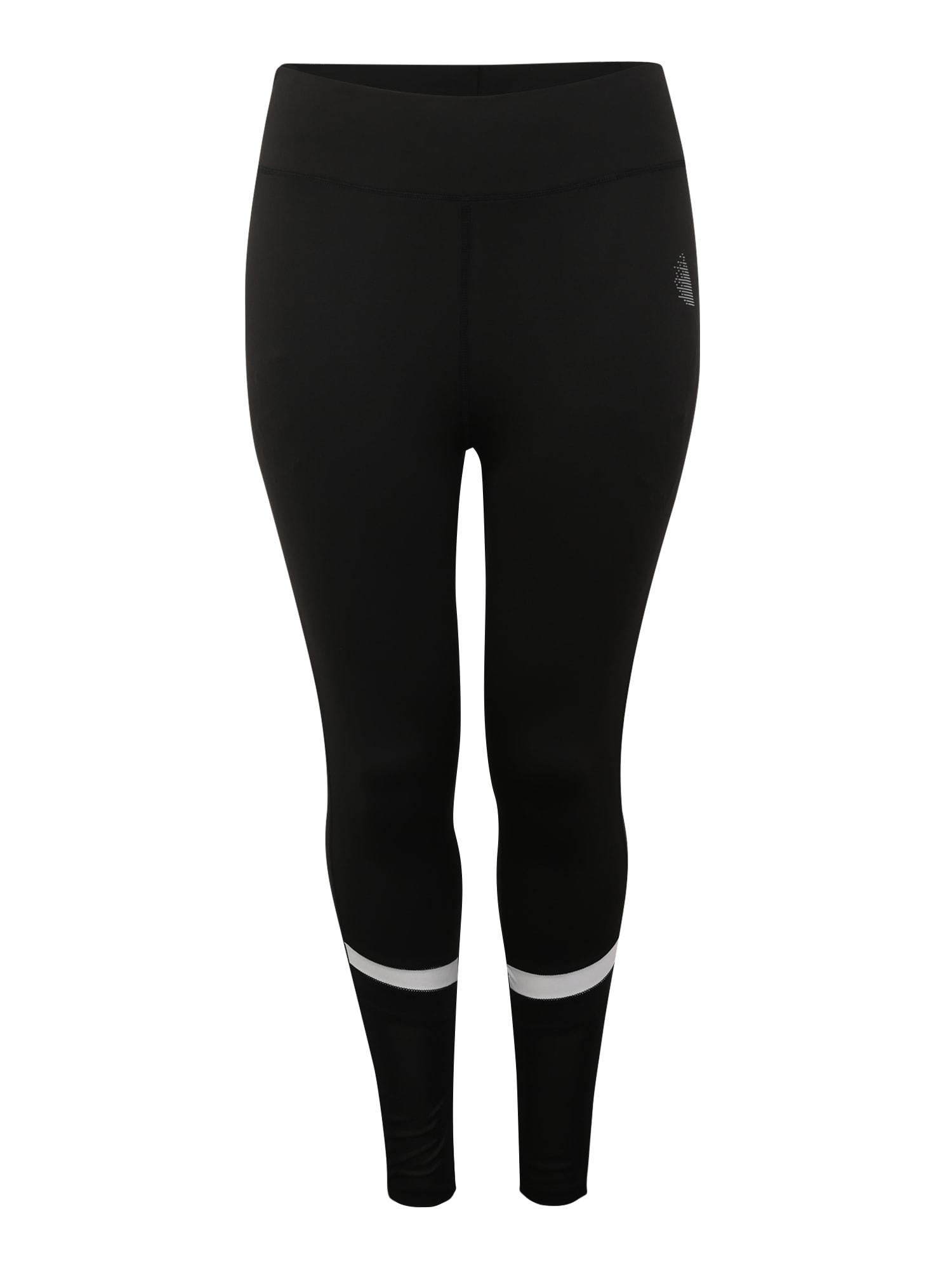 Sportovní kalhoty černá bílá Active By Zizzi