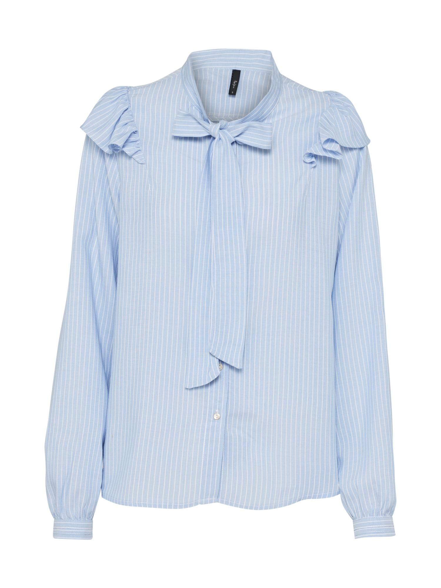 Pepe Jeans Dames Blouse AYUMI blauw wit