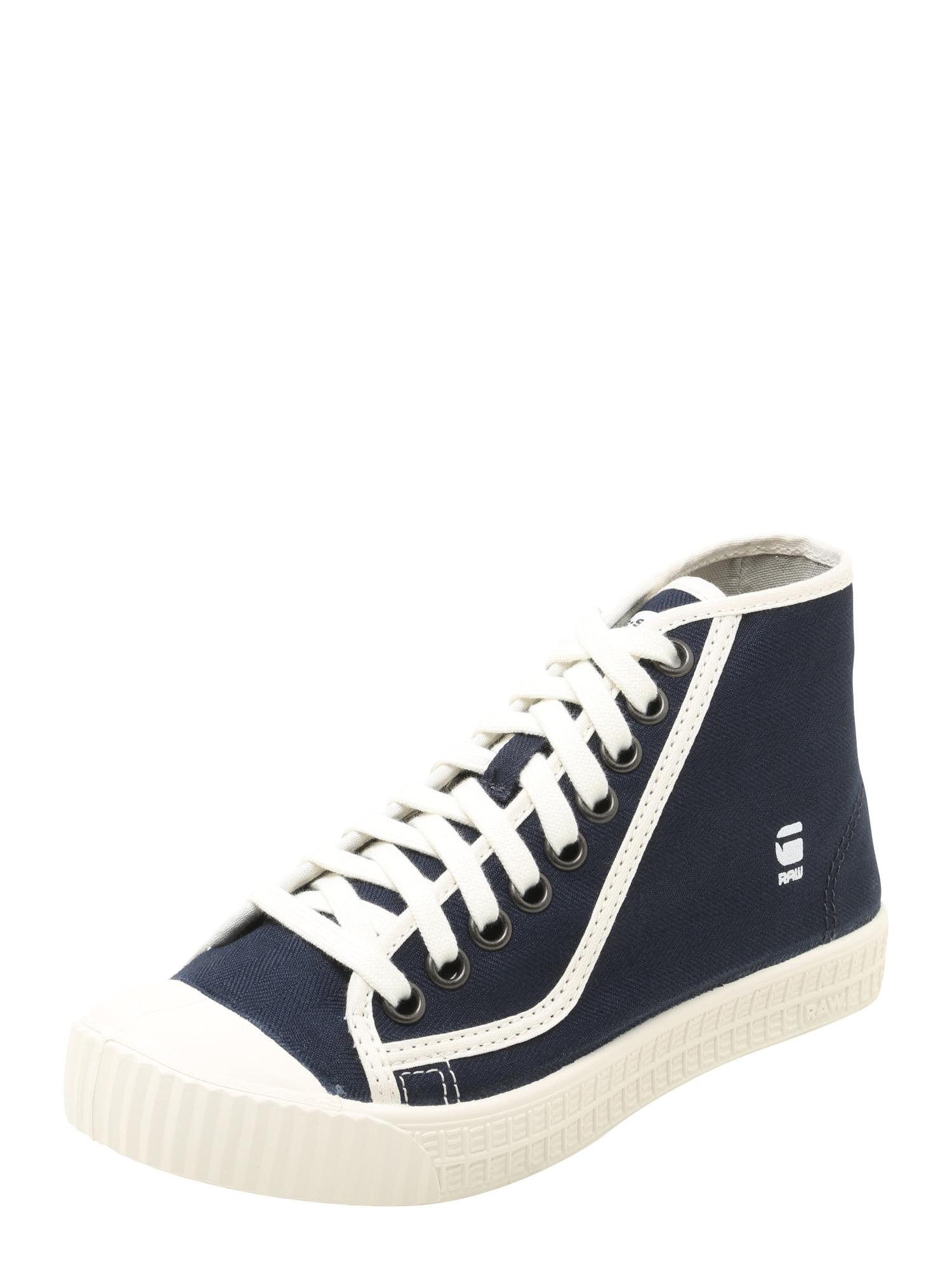 G-STAR RAW Dames Sneakers hoog ROVULC navy wit