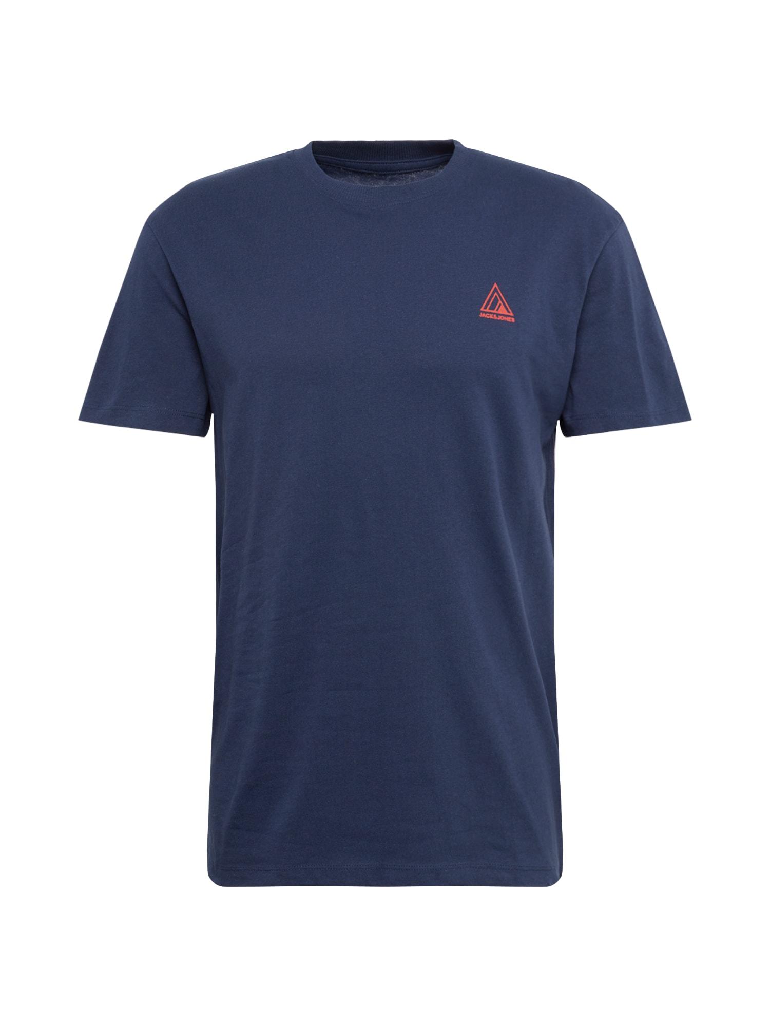 JACK & JONES Tričko 'JORMIRRAGE'  námornícka modrá