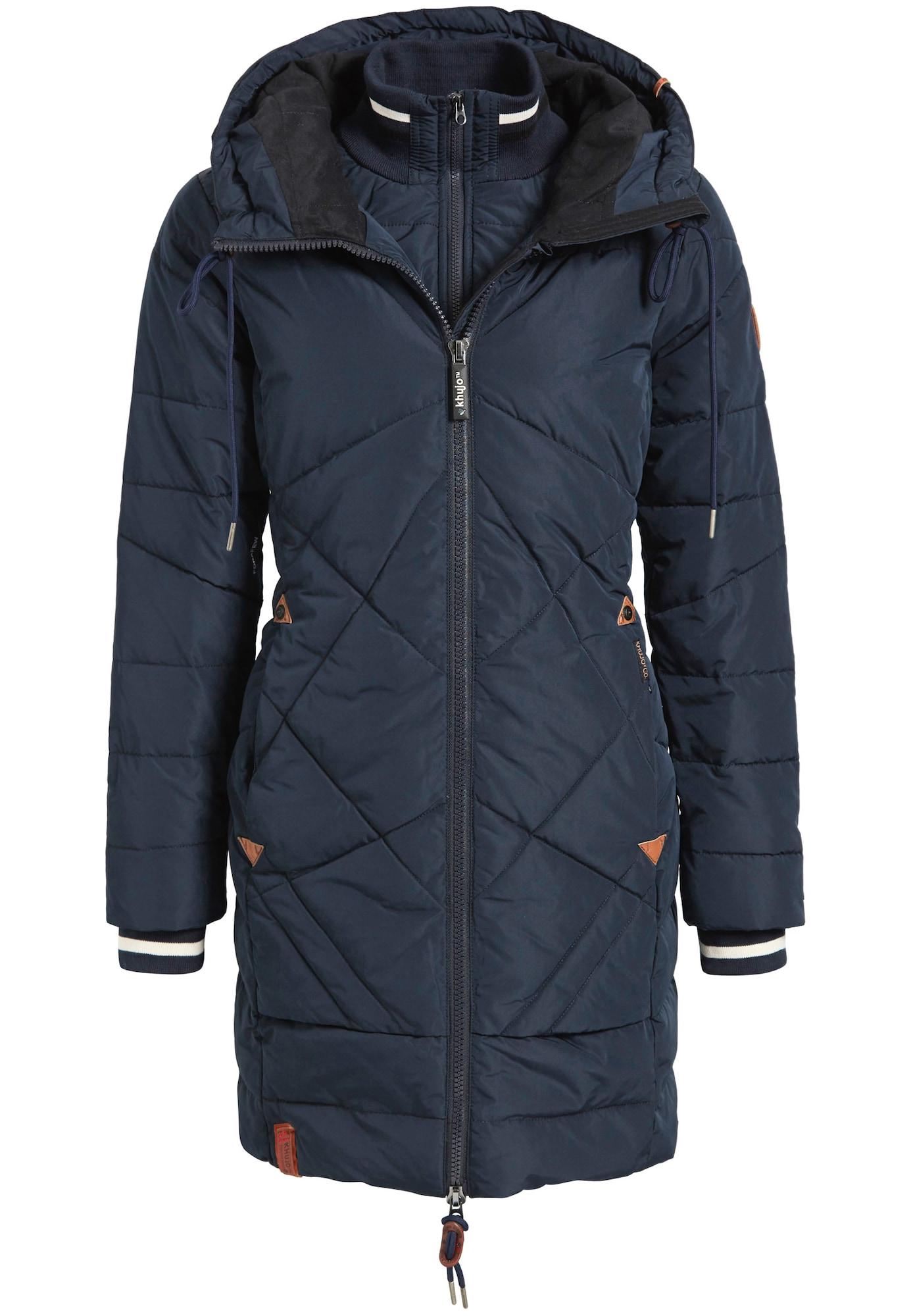 Zimní kabát námořnická modř Khujo
