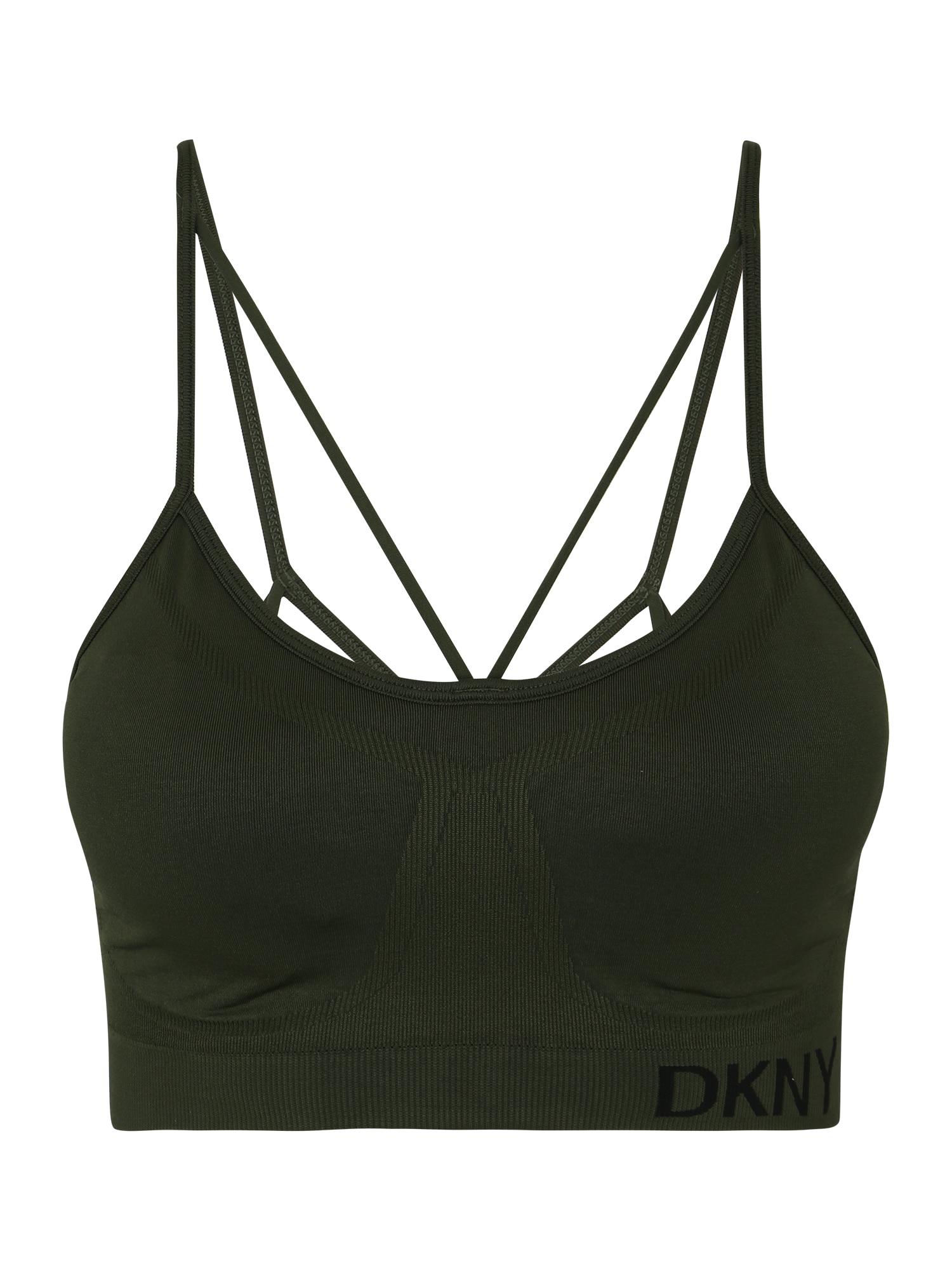 DKNY Sport Biustonosz sportowy  ciemnozielony