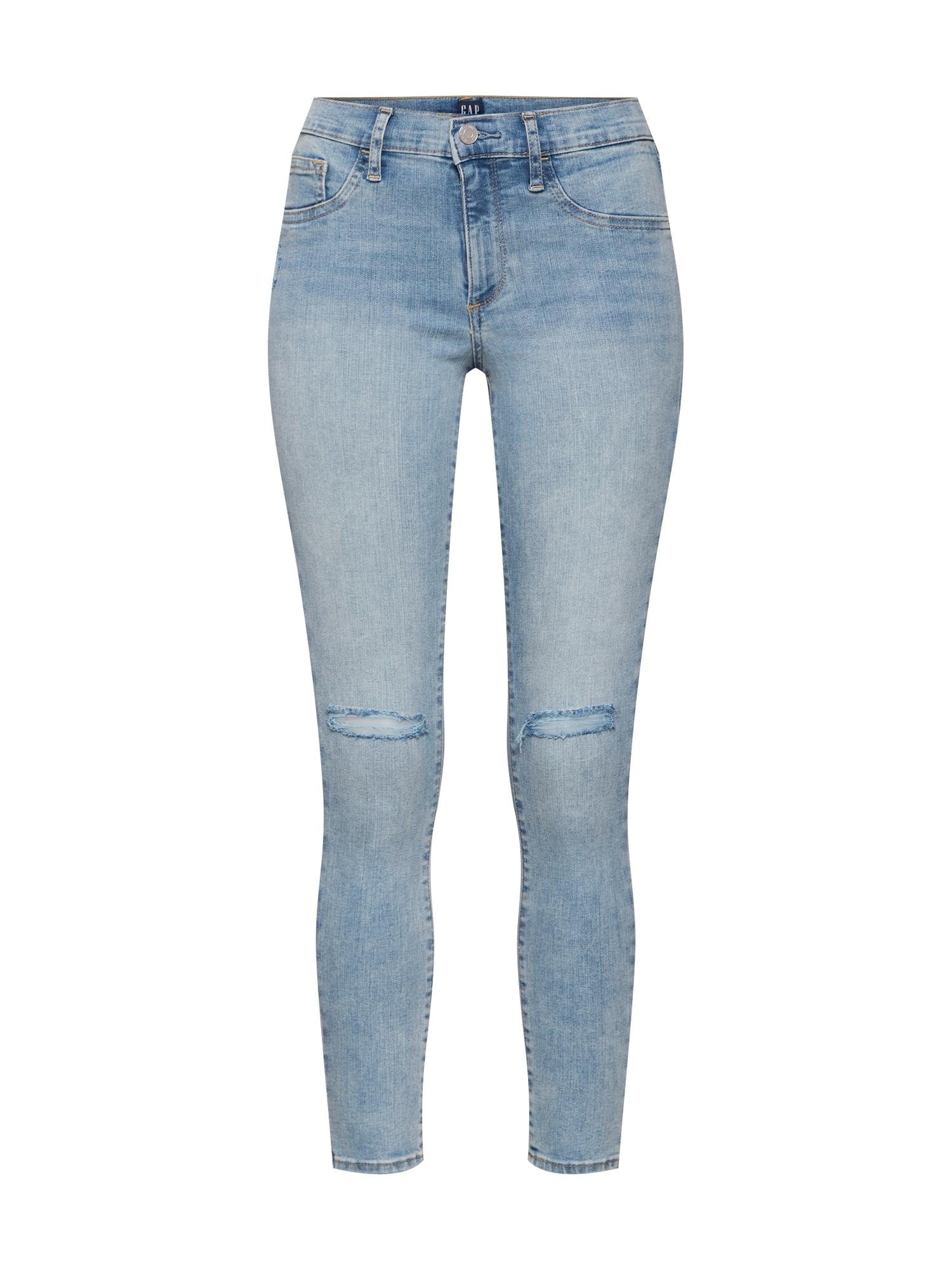 Kalhoty modrá džínovina světlemodrá GAP