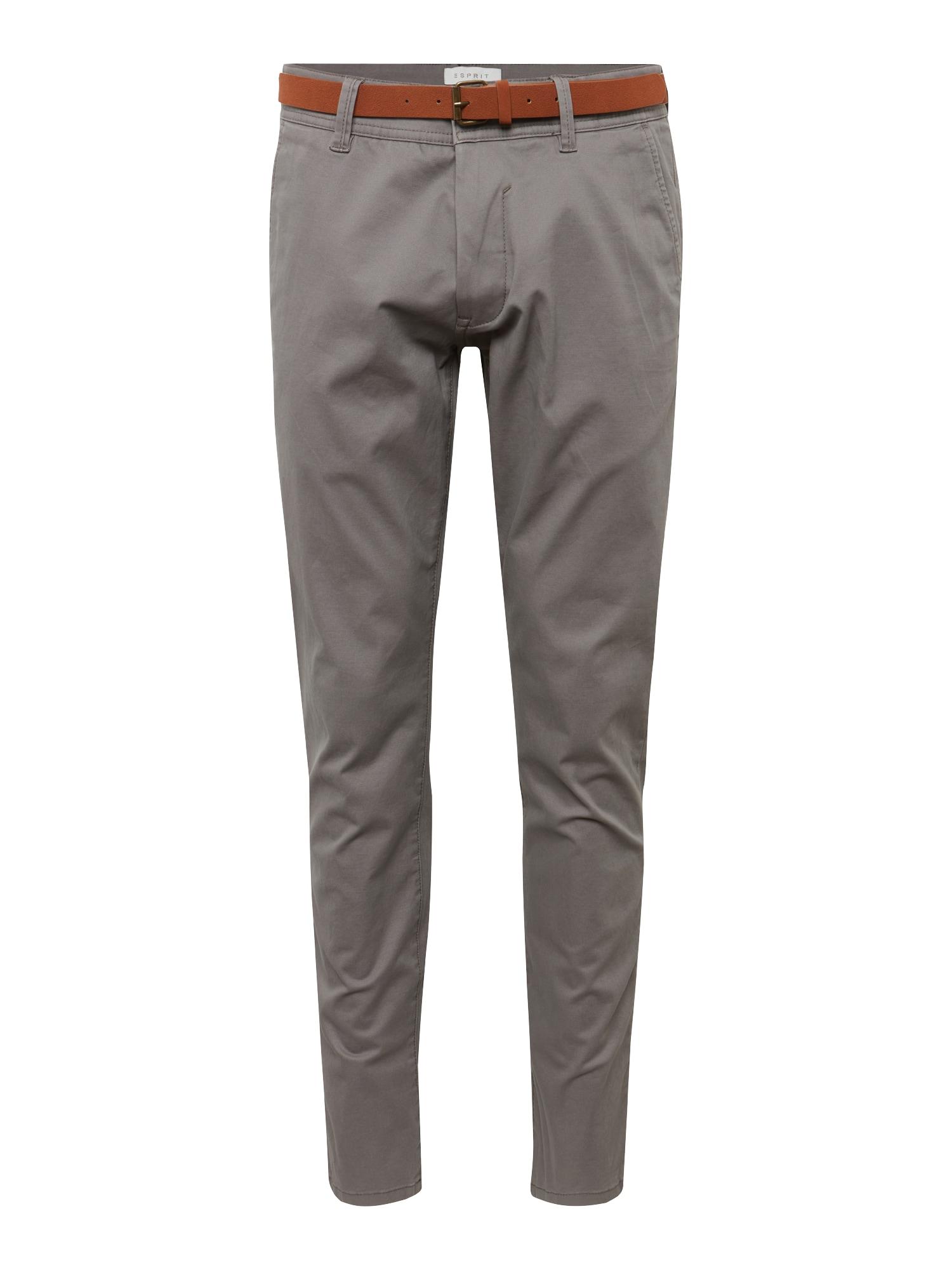 Chino kalhoty NOOS Chino šedá ESPRIT