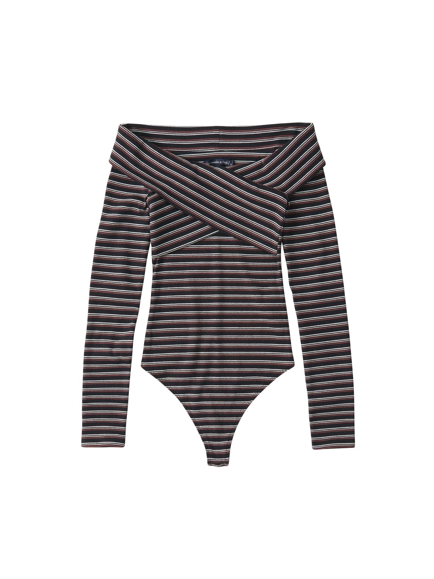 Tričko merlot černá Abercrombie & Fitch