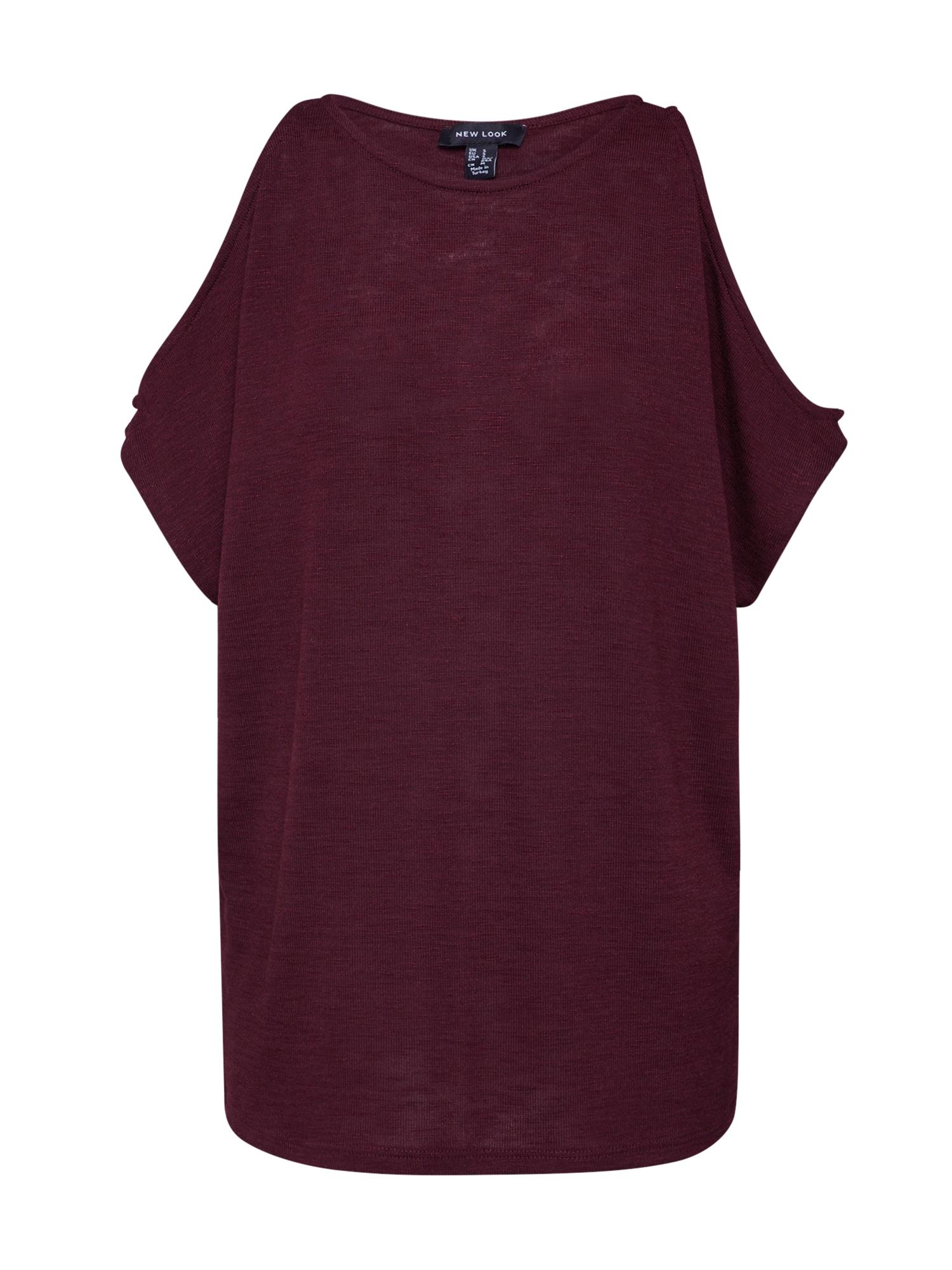 NEW LOOK Tričko 'CS COLD SHOULDER TOP'  burgundská červeň